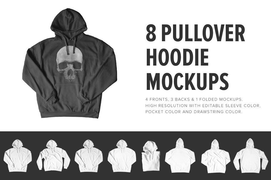 8 Premium Pullover Hoodie Mockups example image 1