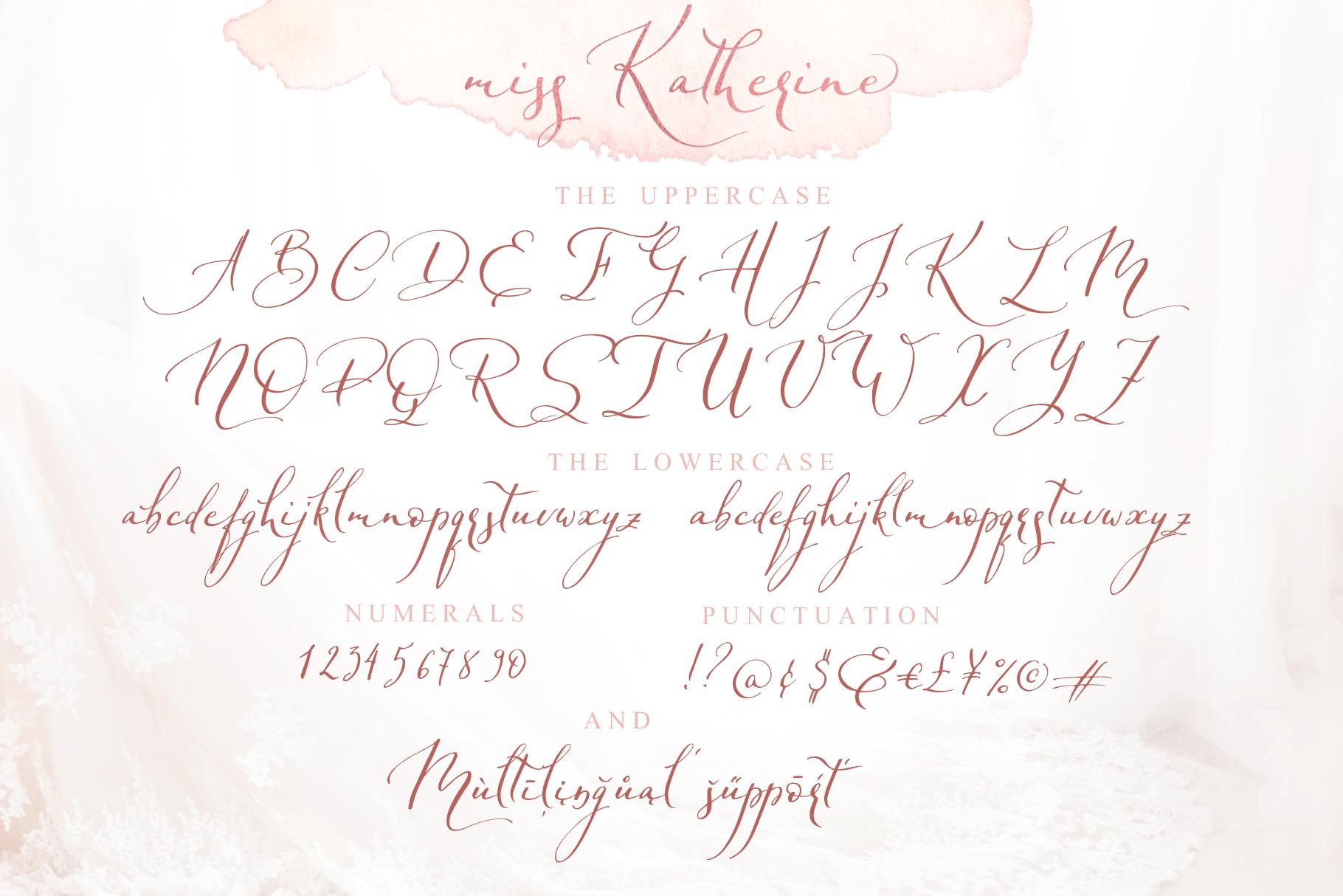 Miss Katherine font + Extras & Logo example image 8