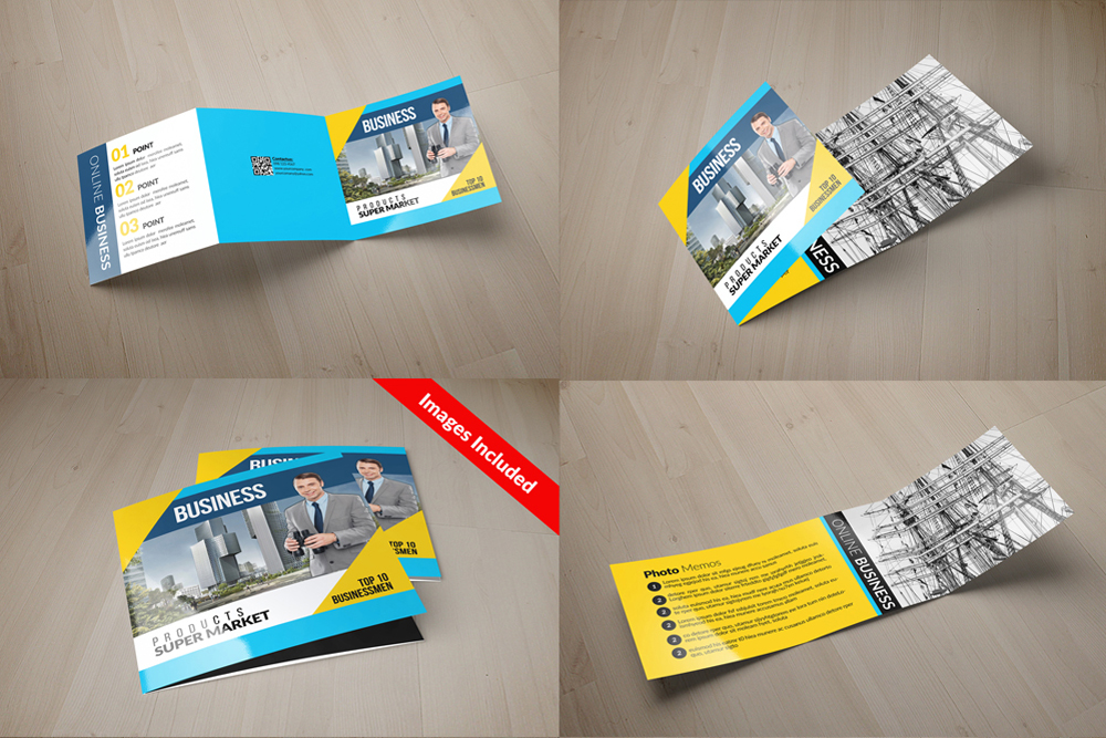 25 Square Trifold Business Brochures Bundle example image 7