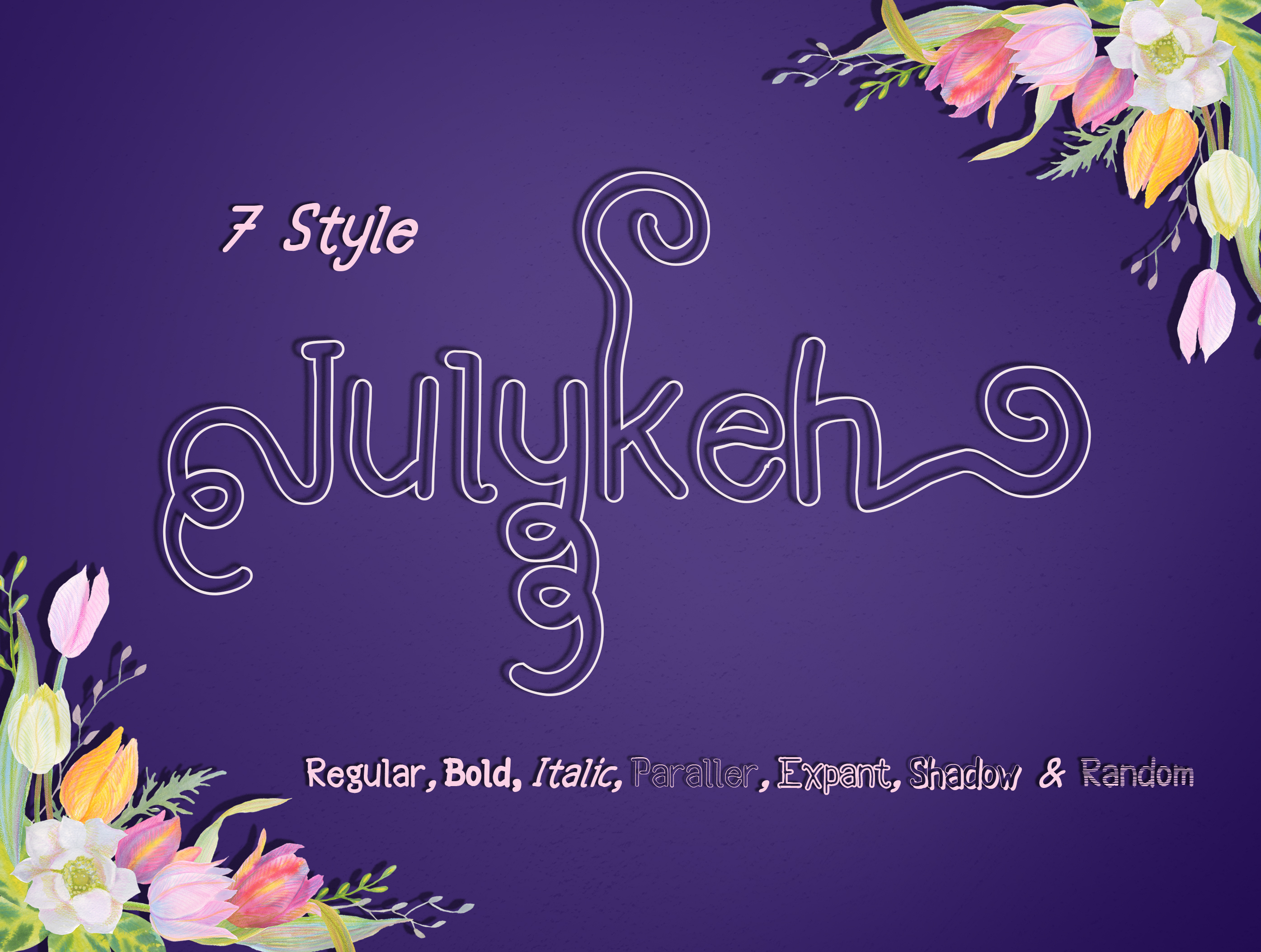 Julykeh handmade 7 Style Font example image 3