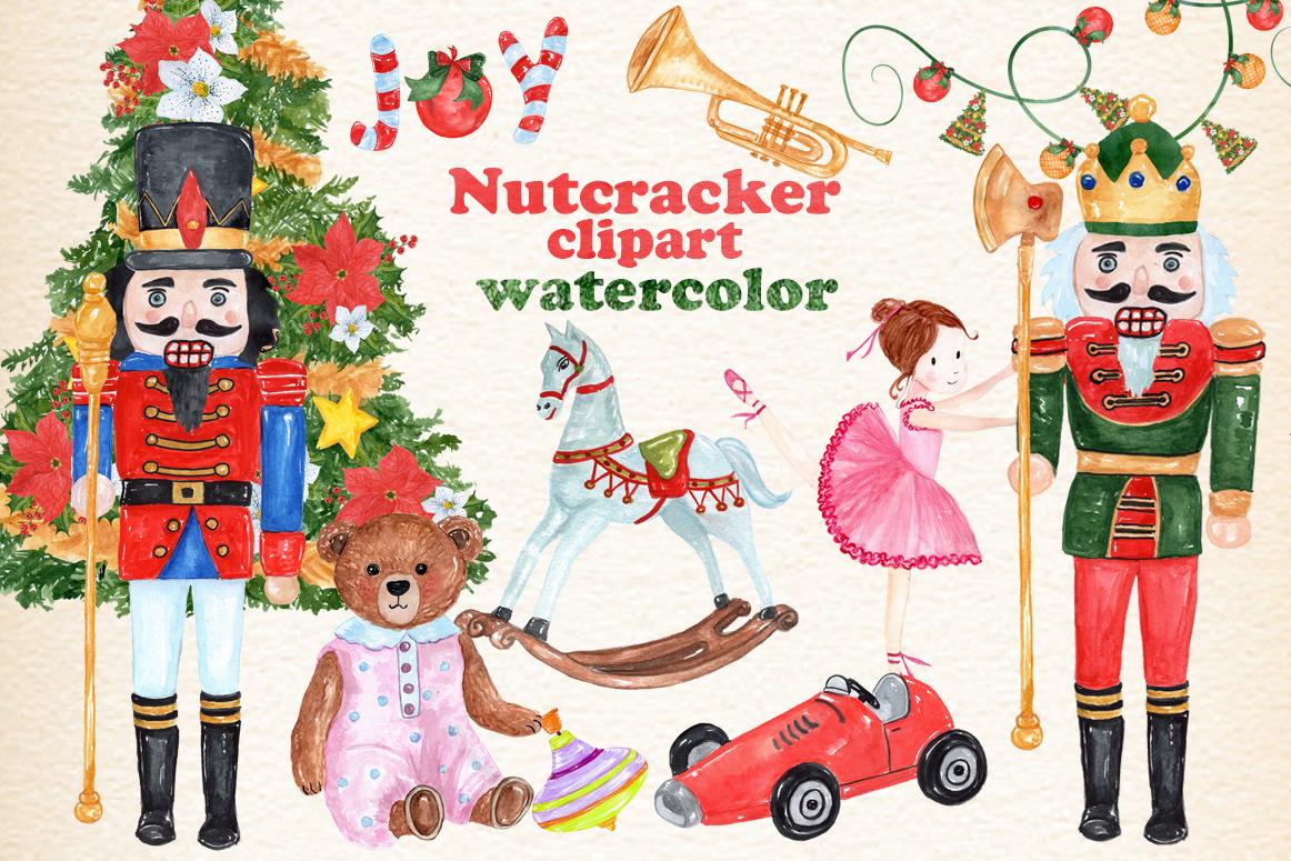 Bundle Watercolor Christmas Kids Clipart example image 25