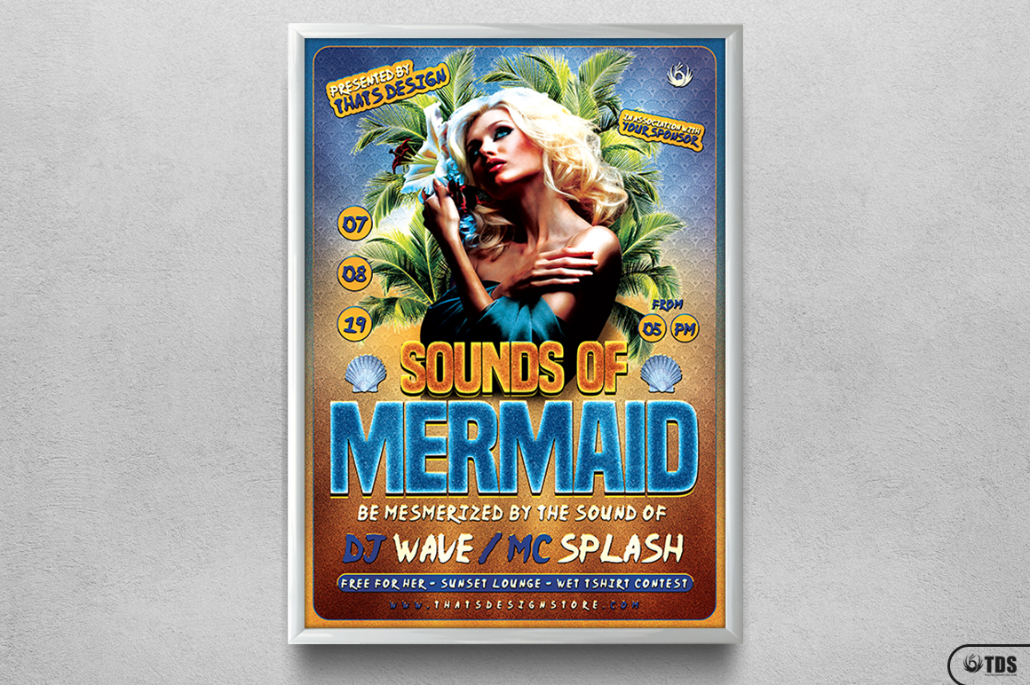 Beach Party Flyer Template V6 example image 6