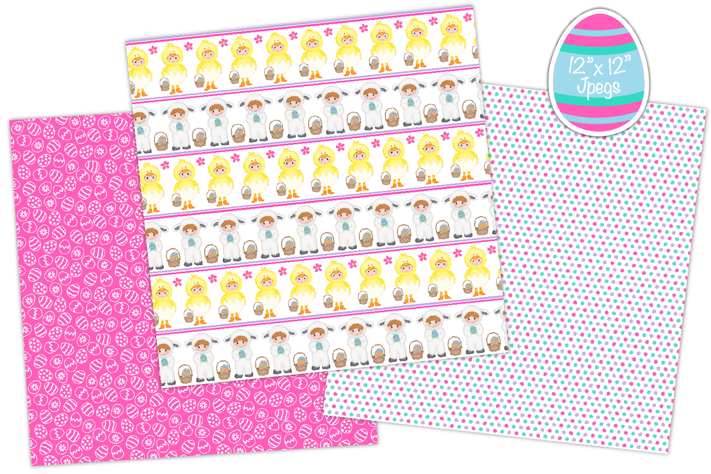 easter digital paper, Easter patterns, easter - P36 example image 4