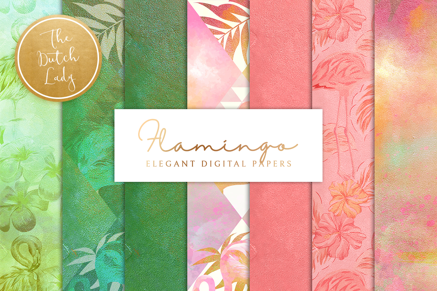 Flamingo Backgrounds & Paper Designs example image 1
