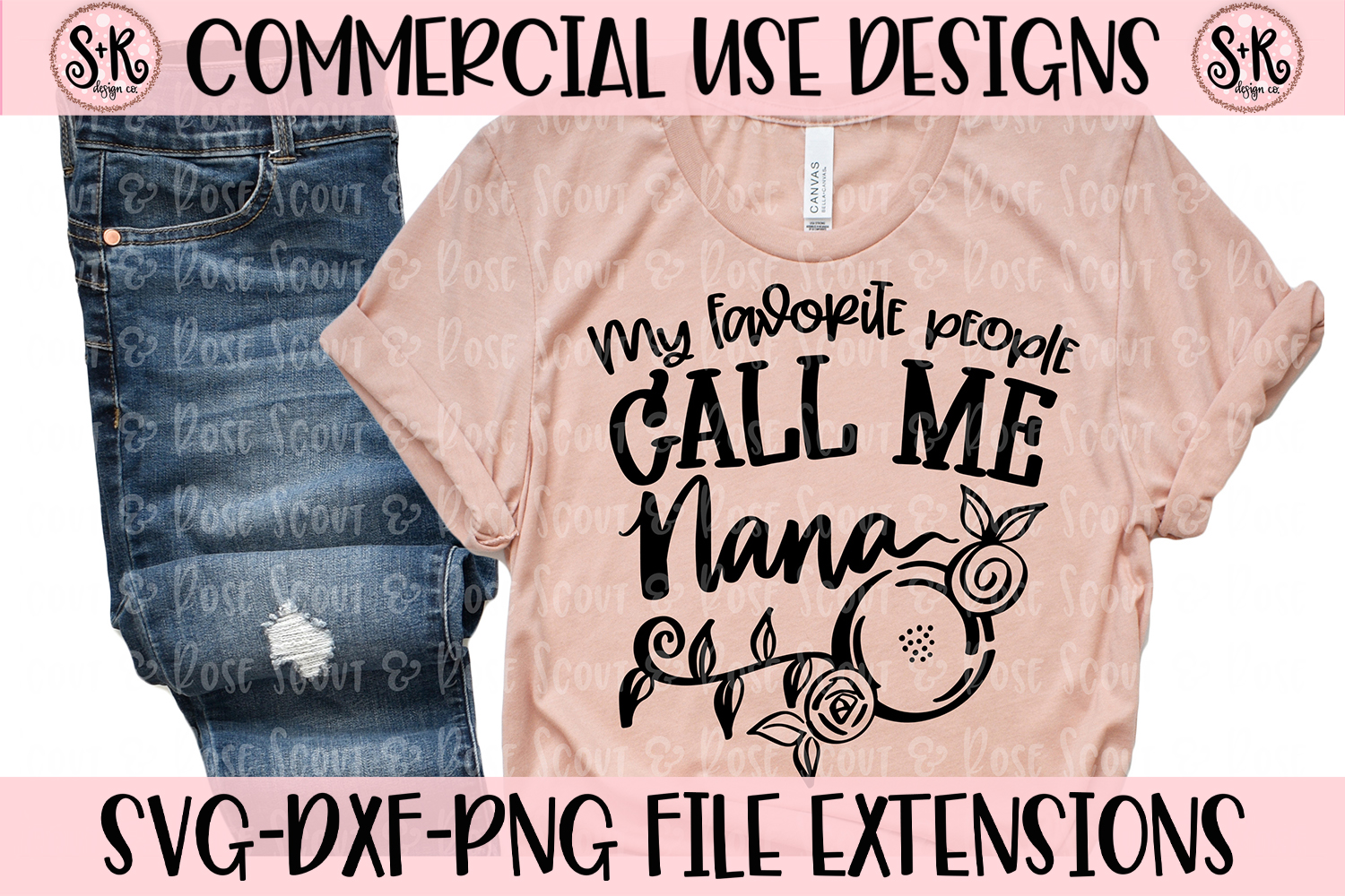 My Favorite People Call Me Nana SVG DXF PNG example image 1