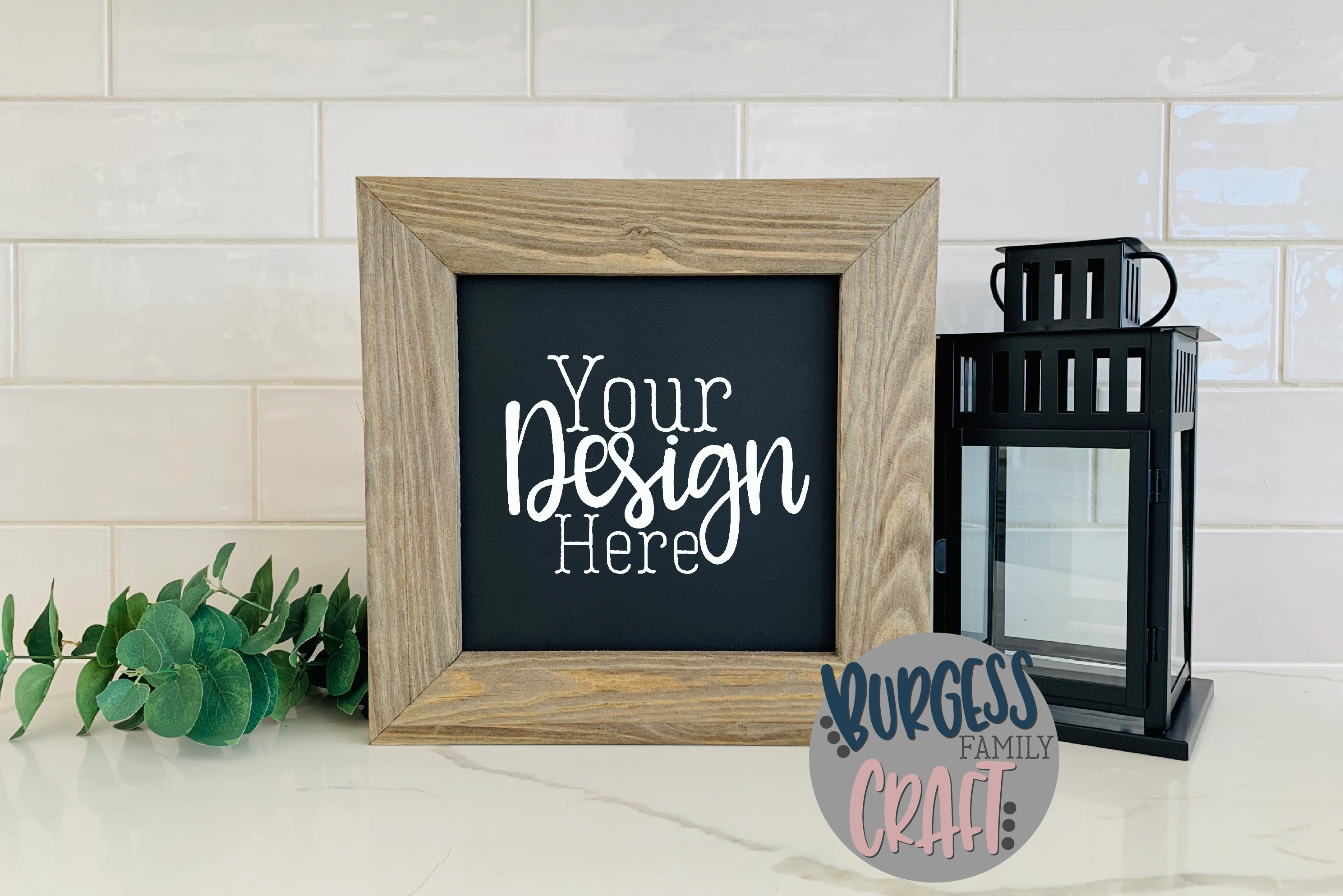 Rustic Chalkboard wood sign Craft mock up |High Res JPEG example image 2