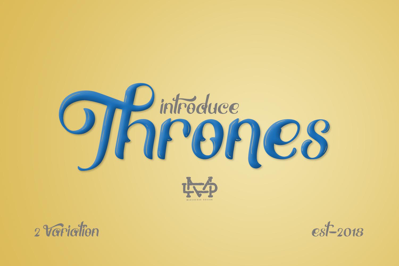 Thrones - Classic Typeface example image 4