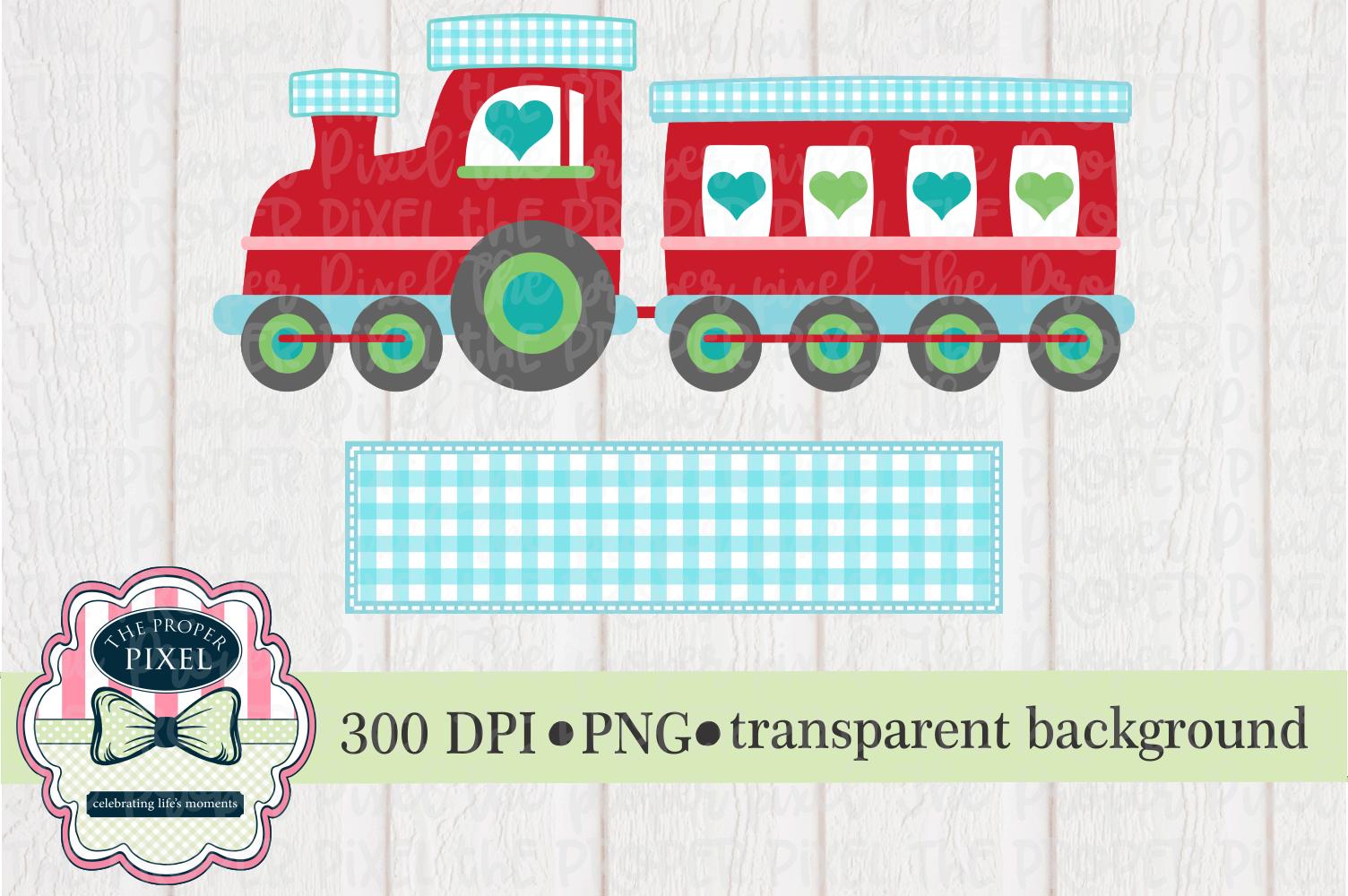 Train Valentine Design, printable sublimation download example image 1