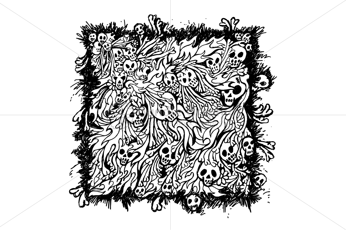 Skulls and Bones - Freehand Style Graphic Illustration example image 2