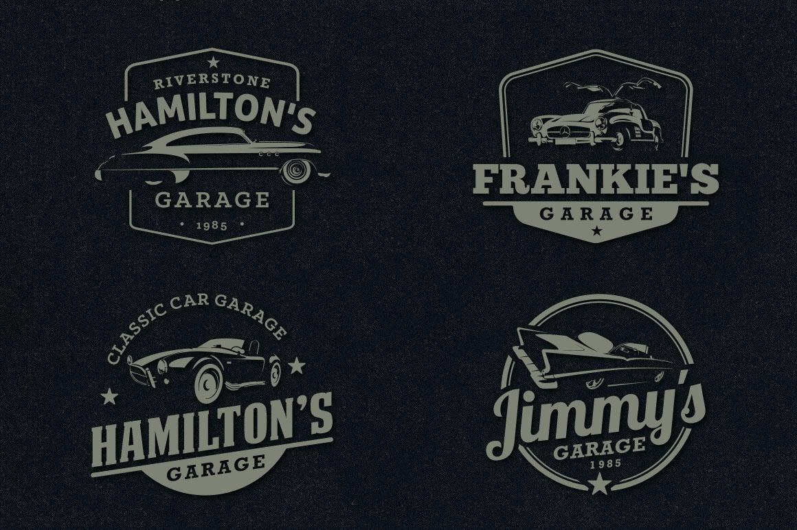 Classic Car Garage Badges & Logos example image 4