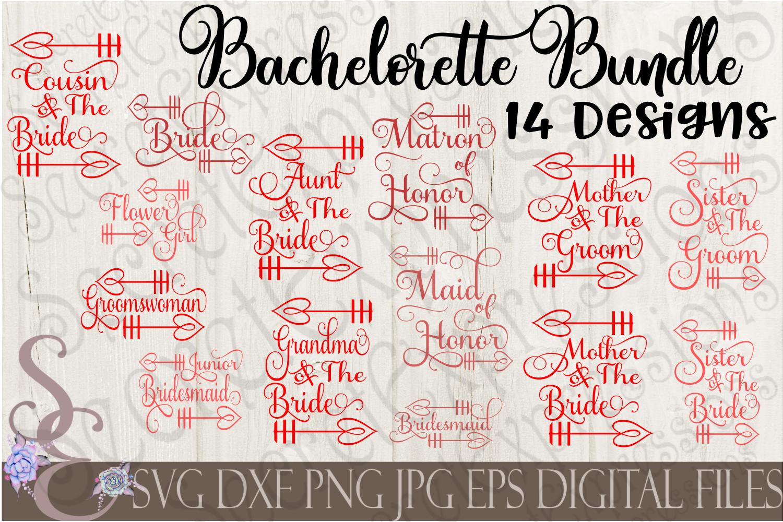 Bachelorette Svg Bundle Bride Wedding Party Set