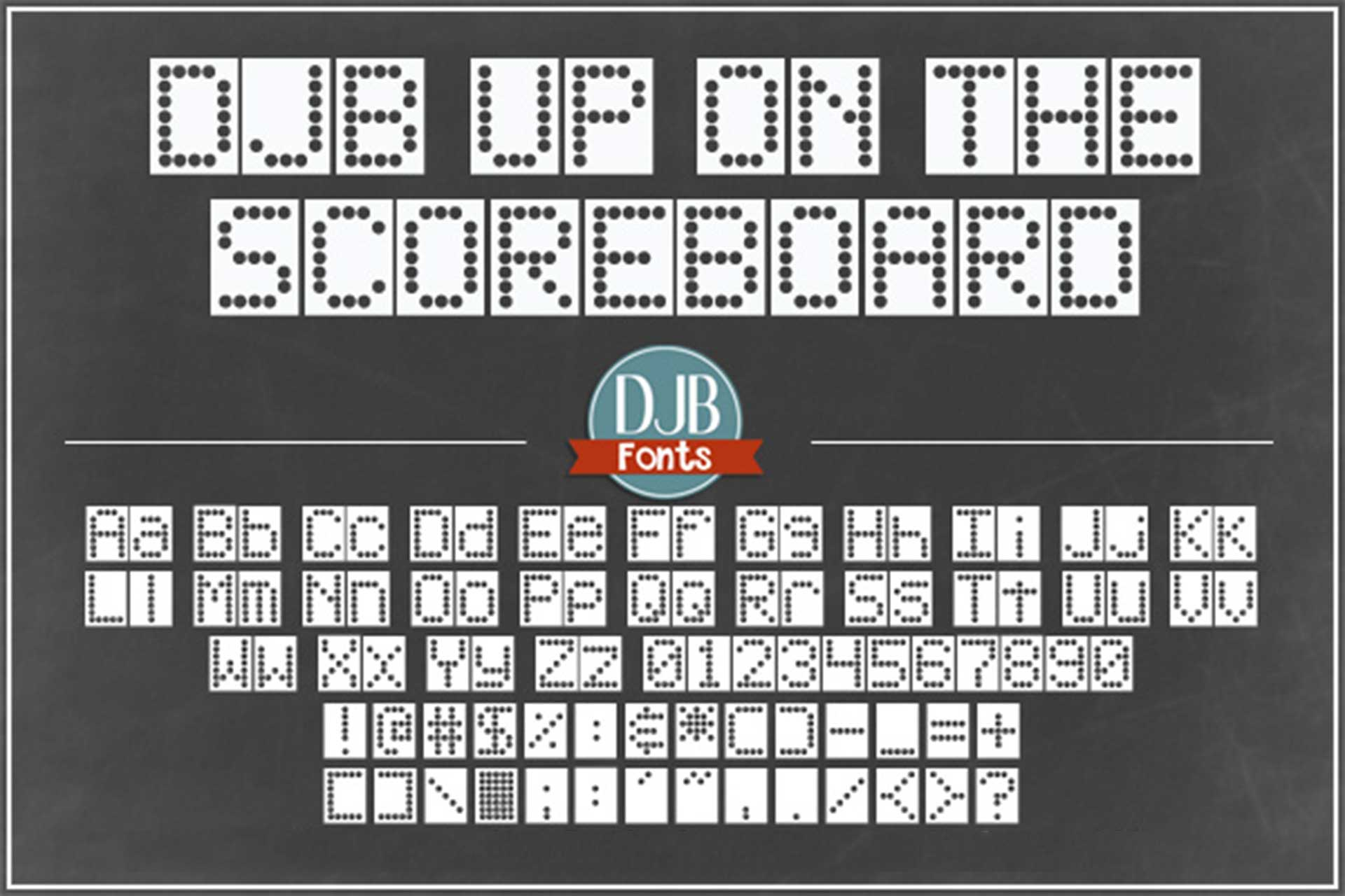 Scoreboard Font Pack example image 3