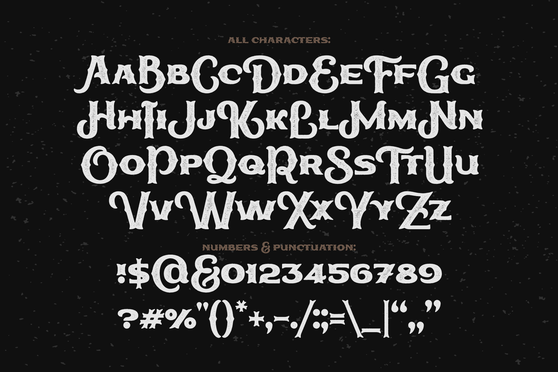 True Black typeface example image 4