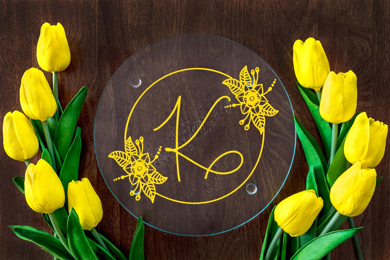 Floral Spring Monogram example image 2