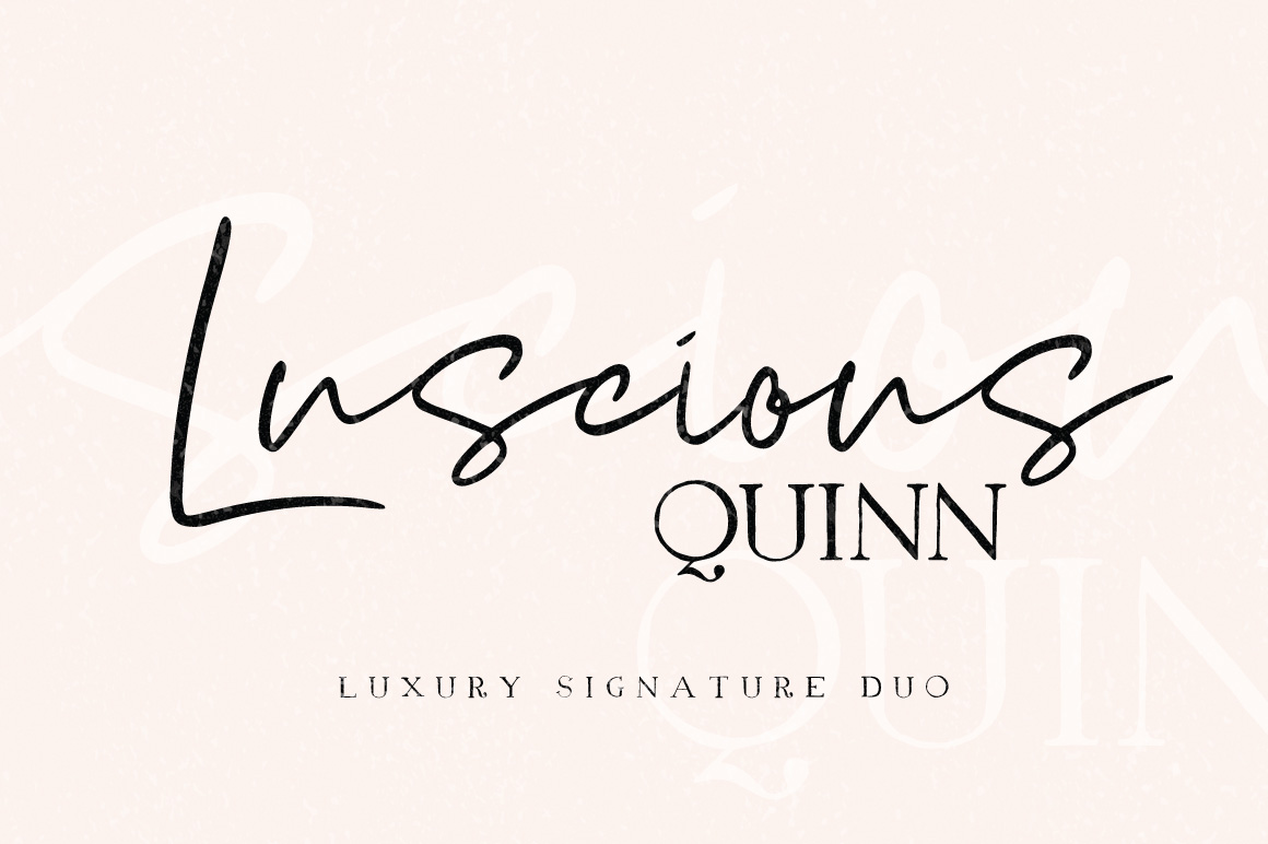 Luscious Quinn Font Duo example image 1