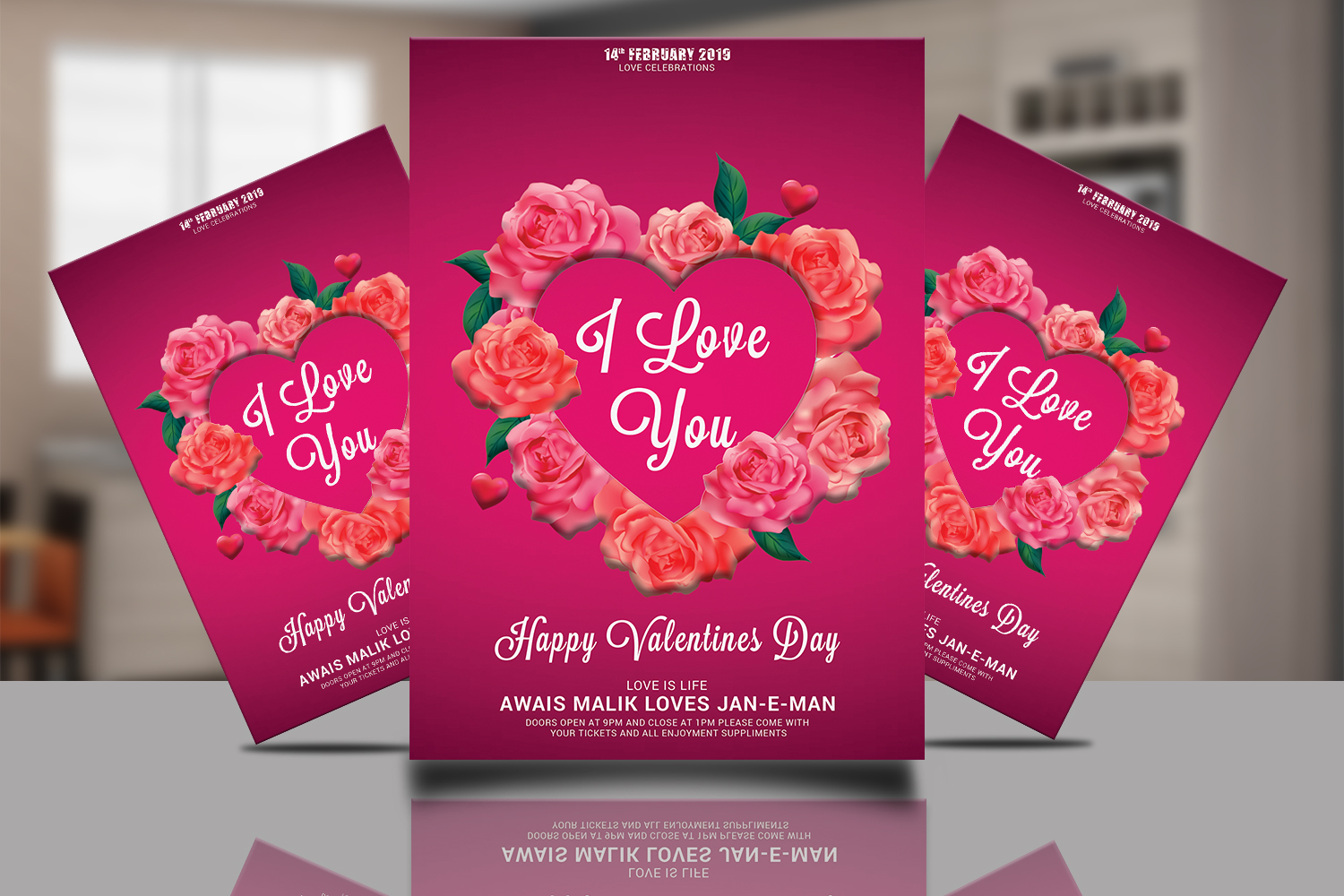 Valentines Psd Template example image 1