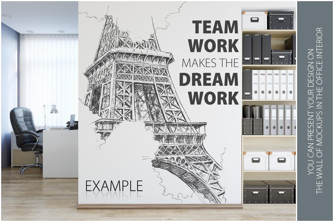 OFFICE Wall Mockup Bundle example image 6