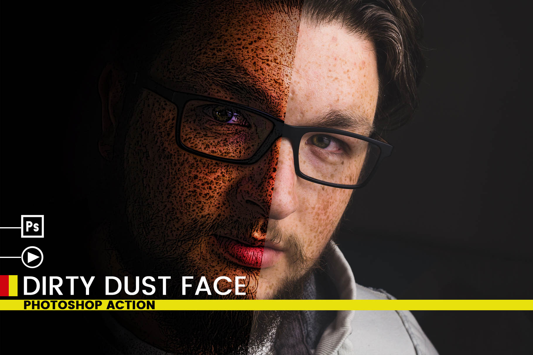 Dirty Dust Face Photoshop Actions example image 6