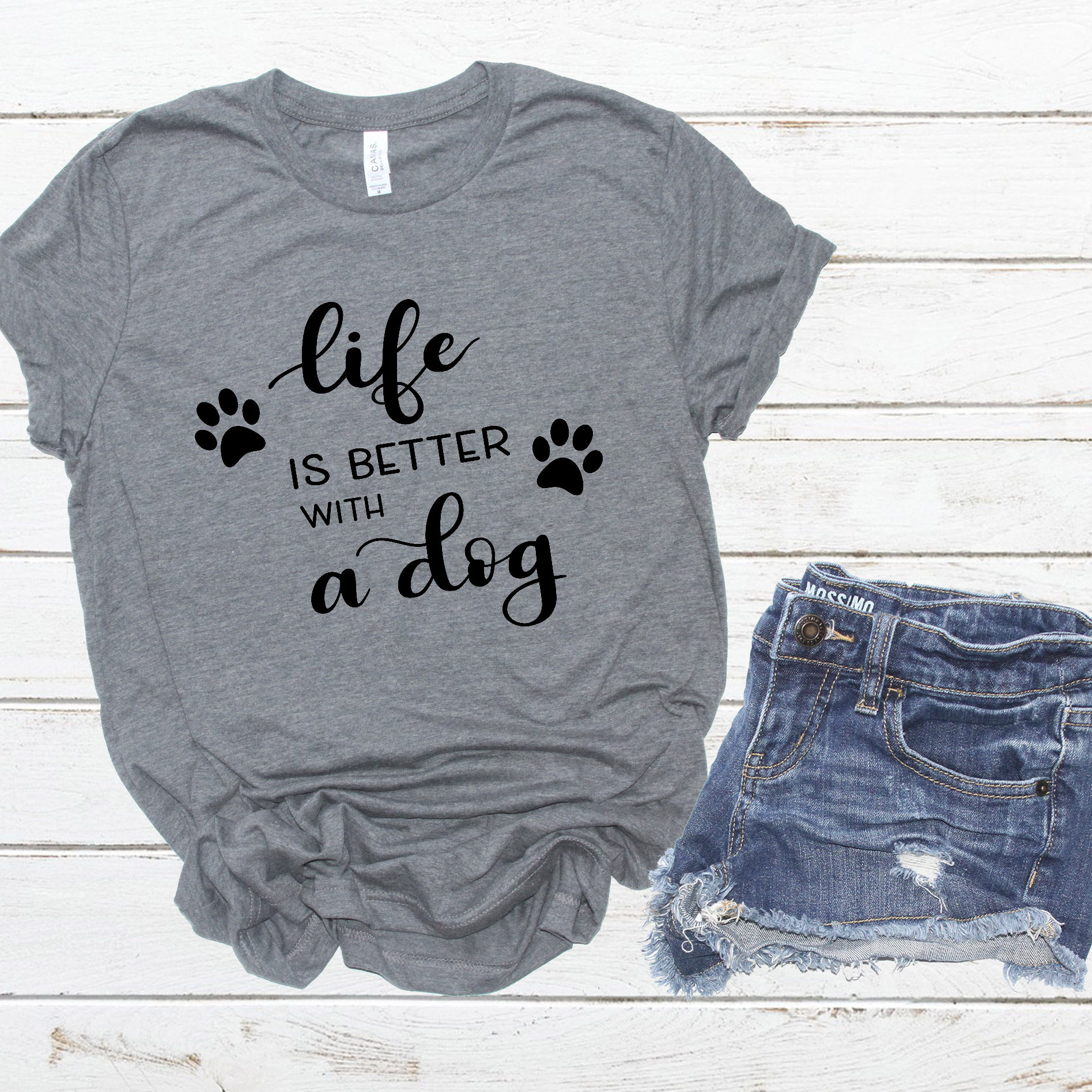 Dog SVG - Life is better with a dog, Handlettered example image 2