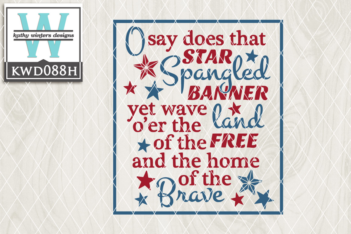Patriotic Cutting File KWD088H example image 1