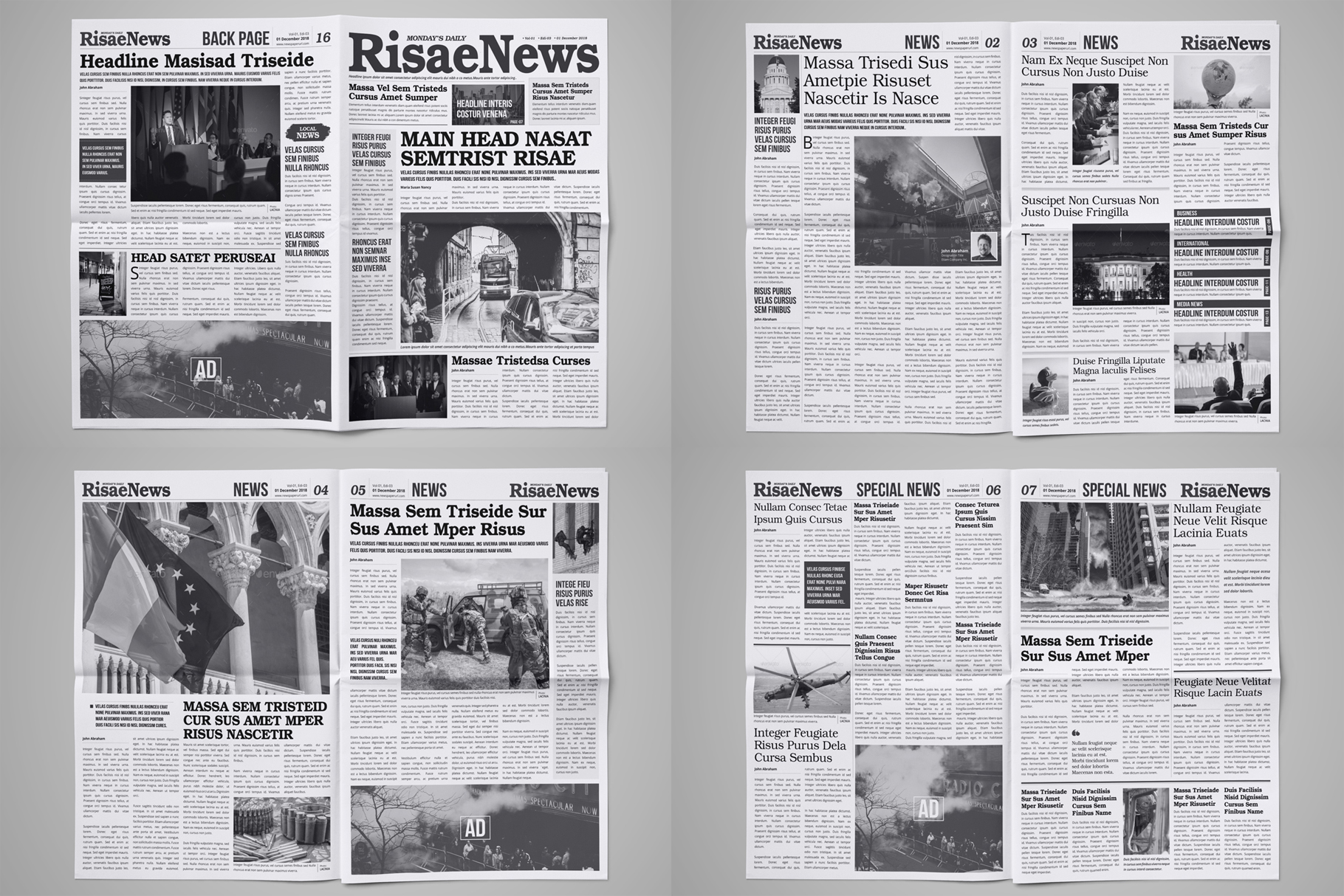 Newspaper Design Bundle - 3 in One example image 6
