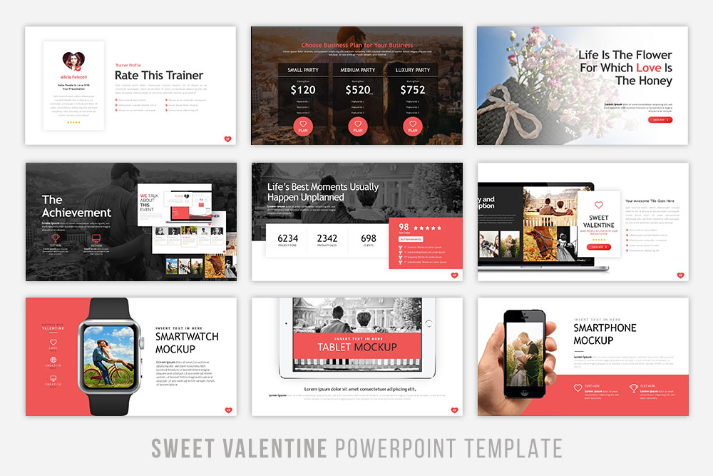 Sweet Valentine Powerpoint Template example image 5