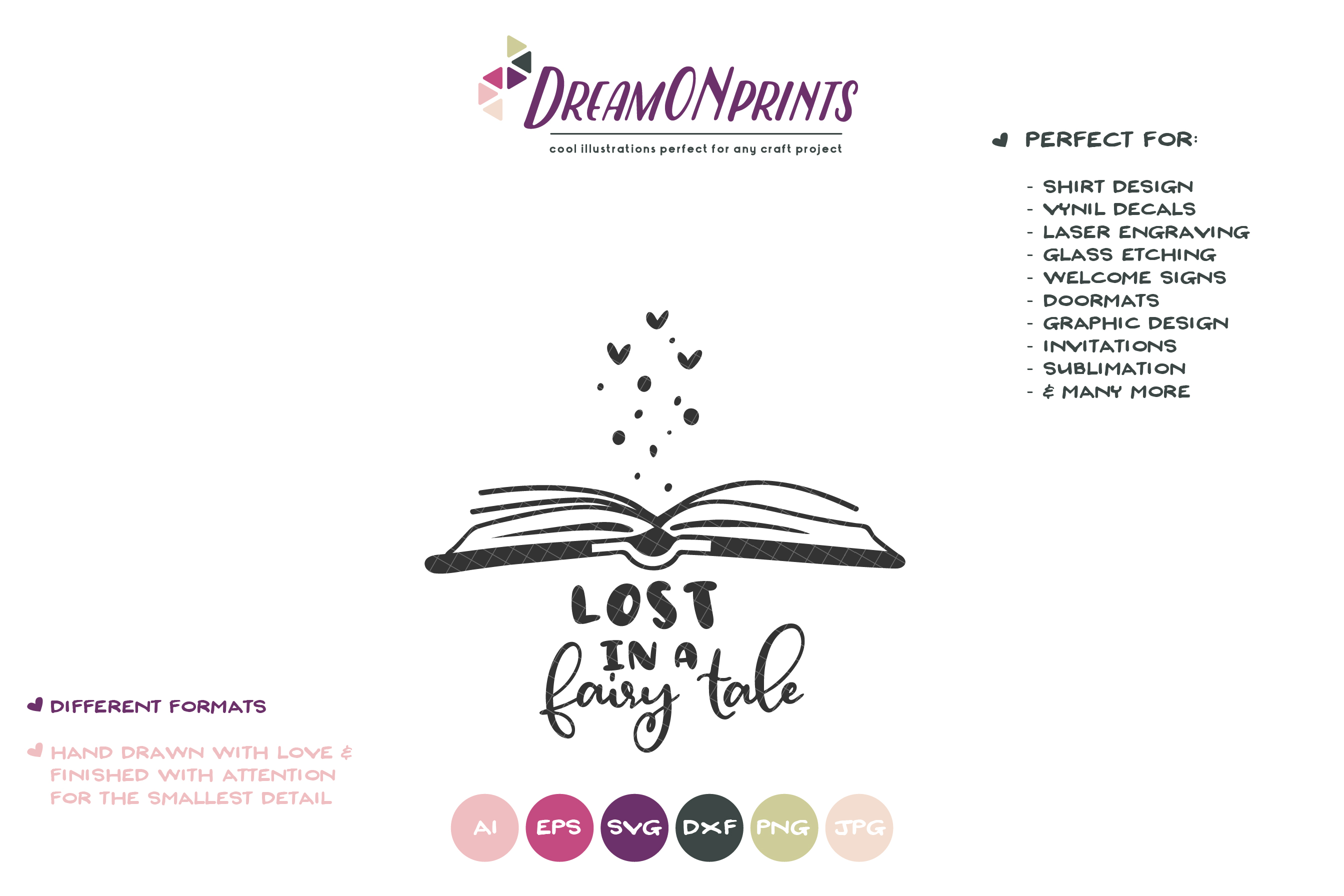 Lost in a Fairy Tale| Reading SVG | Book Lover SVG example image 2