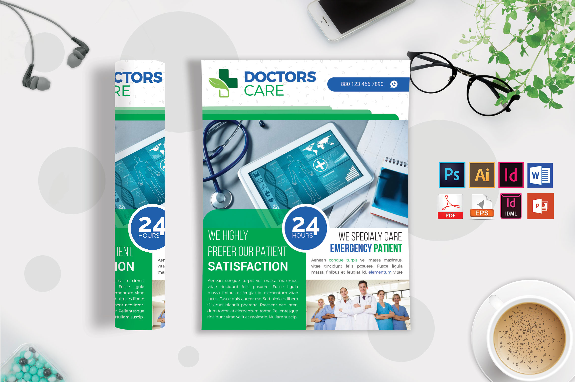 Doctor & Medical Flyer. Vol-04 example image 3