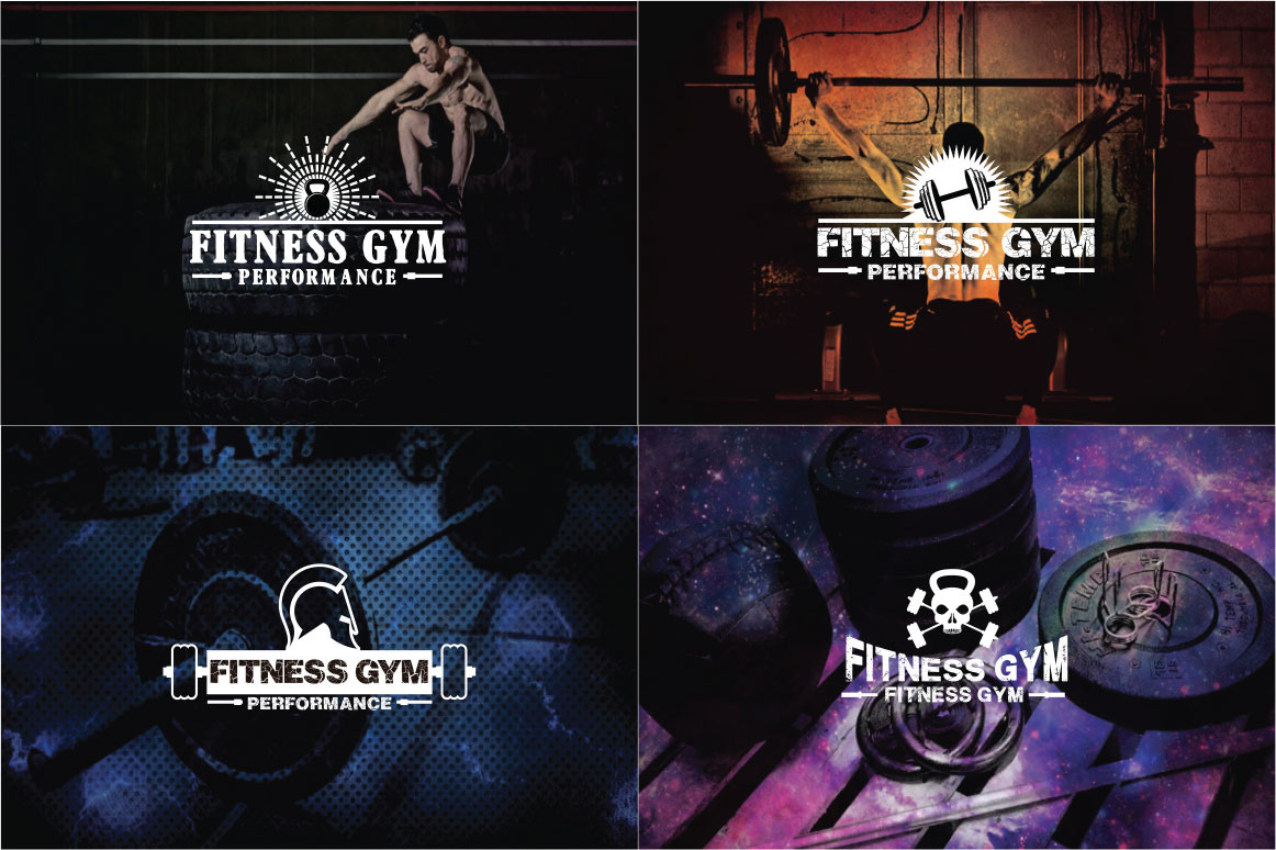 83 fitness gym bundle Logos Labels & Badges example image 3