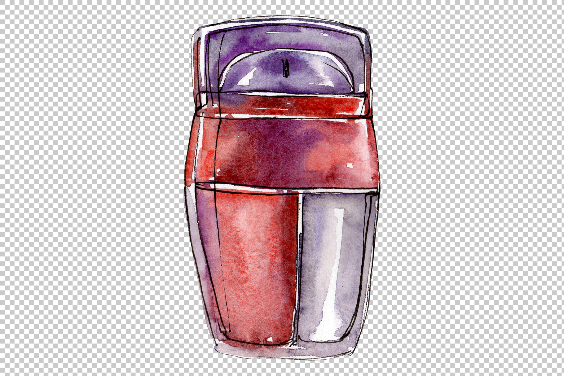 Fashion and style watercolor png example image 7