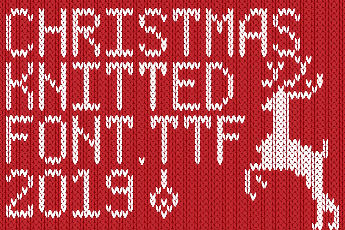 Christmas Knitted Font Ol Version 2.0 example image 1
