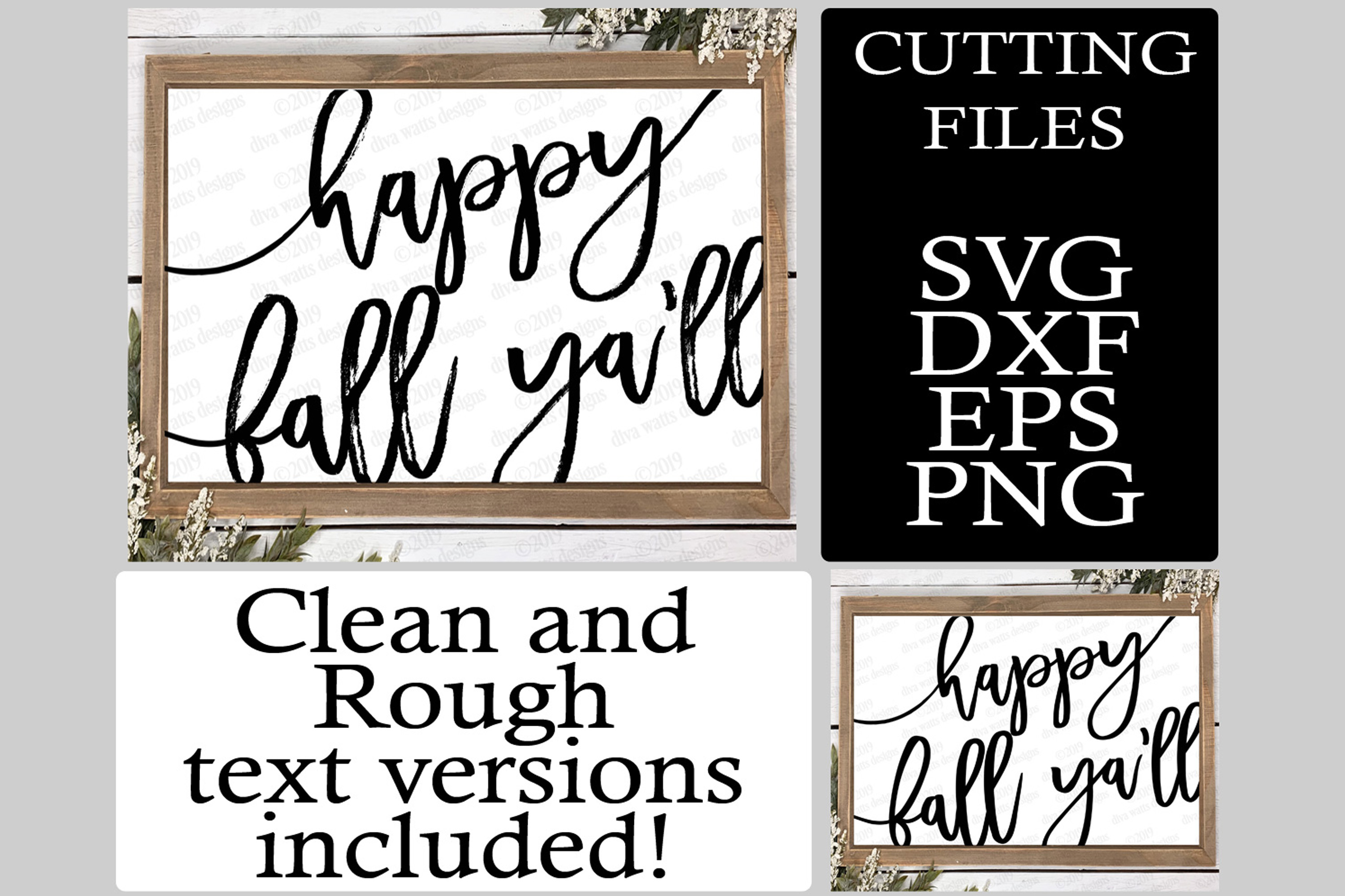 Happy Fall Y'all Oversized Cutting File for Sign example image 1