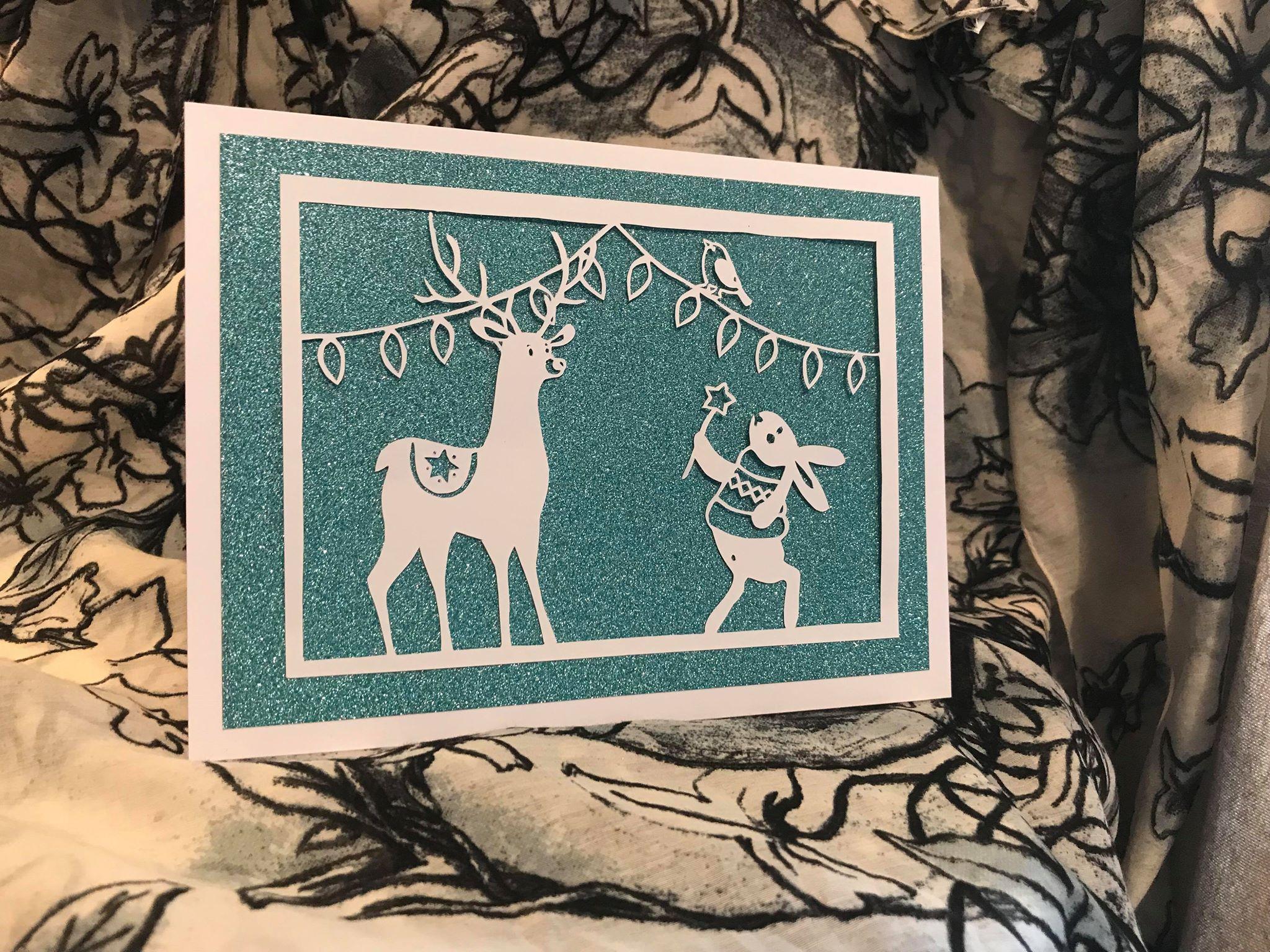 Bird and Bear's Xmas Collection x 8 papercutting templates example image 8