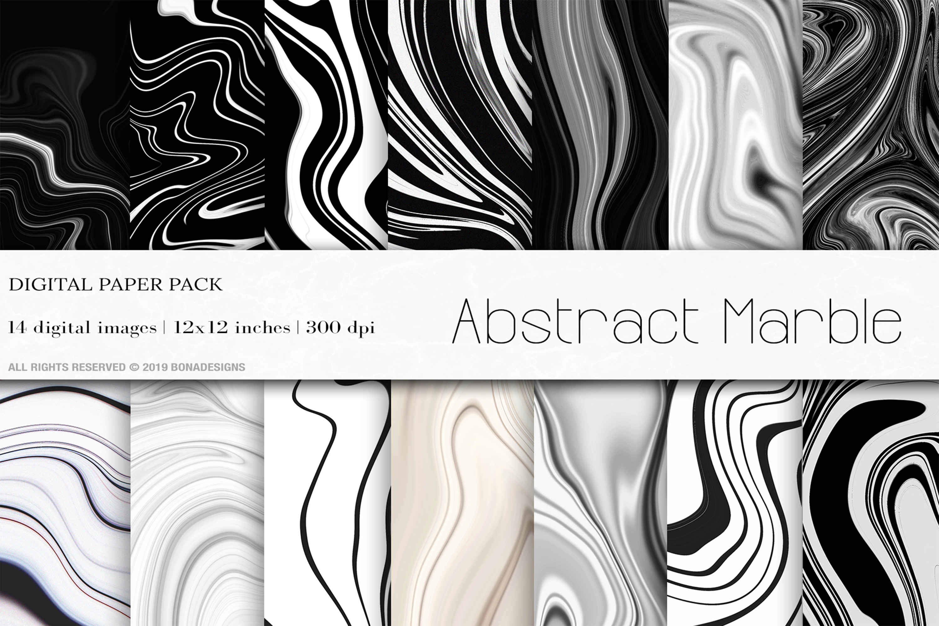 Wedding Background, Abstract Marble Digital Papers, Marble example image 1