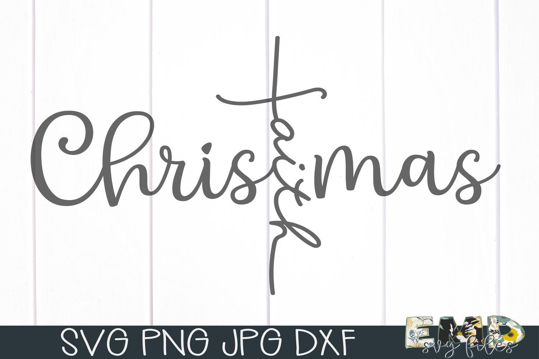 Christmas Faith Cross Svg | Holiday Svg example image 2