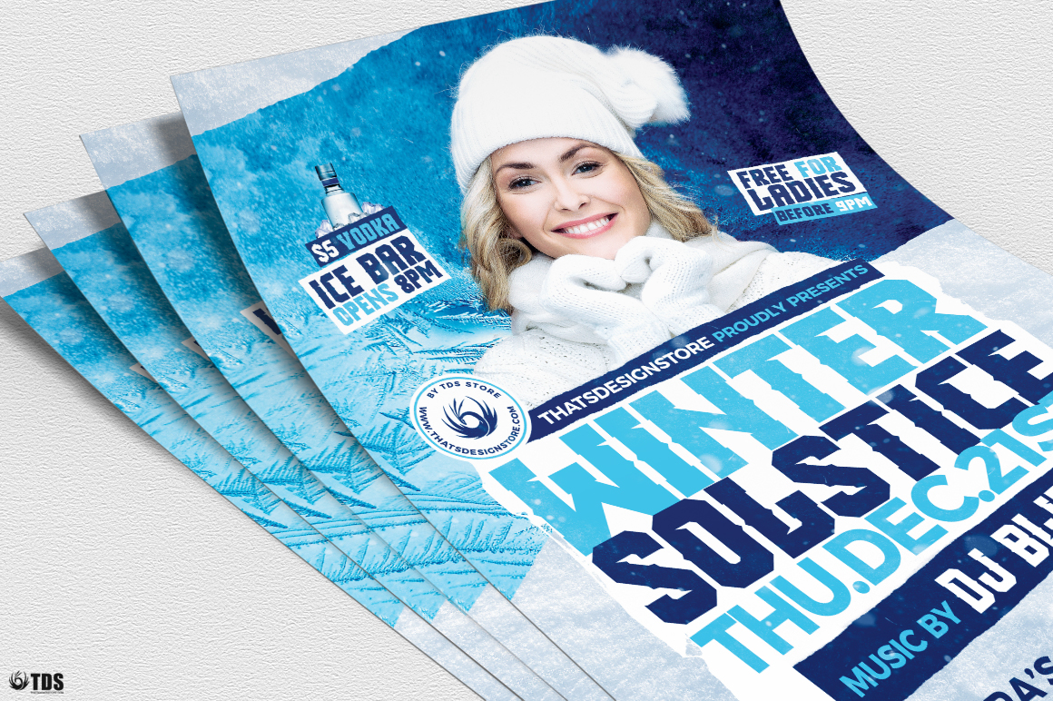 Winter Solstice Flyer Template V4 example image 5