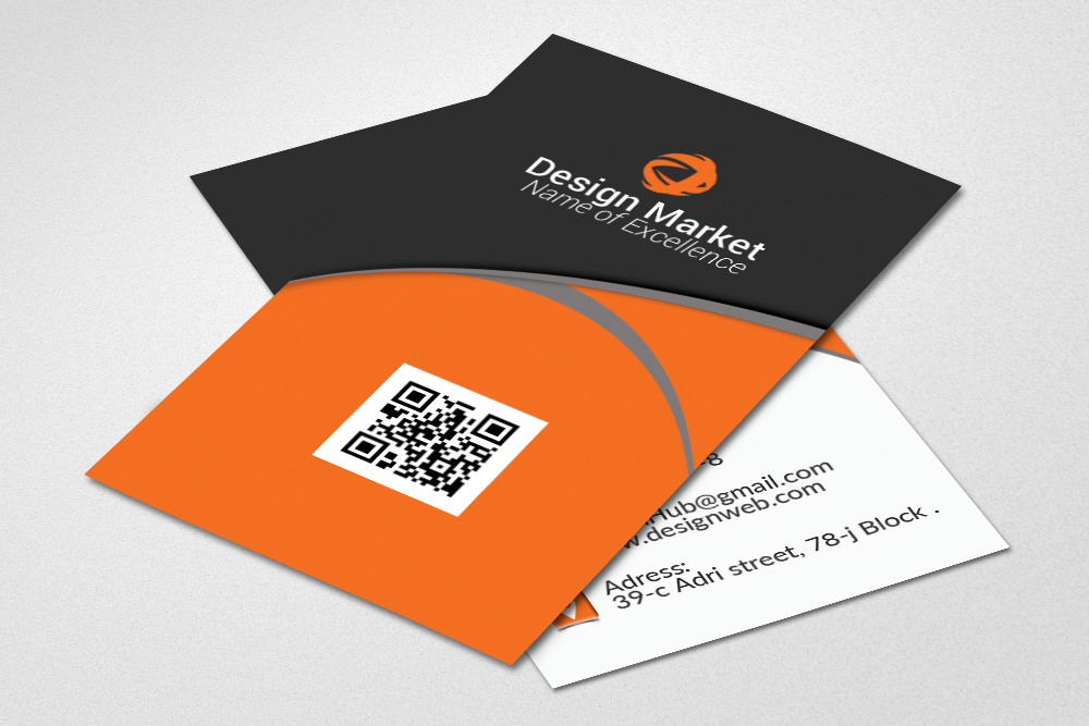 Vertical Business Cards Templates example image 3