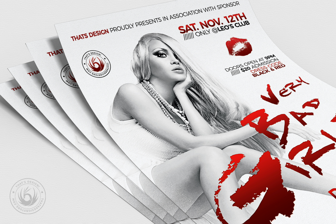 Bad Girls Flyer Template example image 5