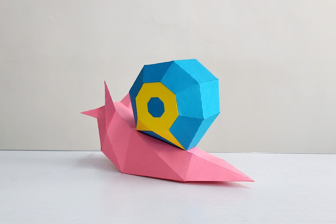 DIY Papercraft Snail,Paper Snail model,Printables,Paper toy example image 2