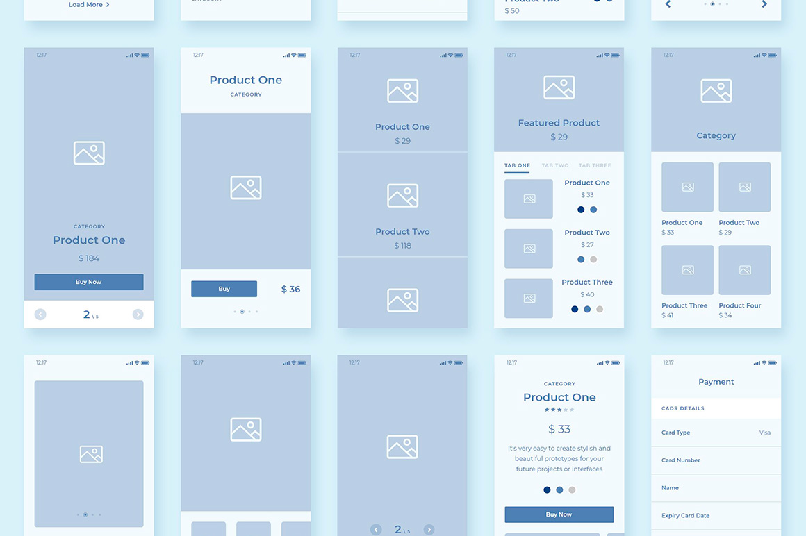 Collector Wireframe Web Kit example image 7