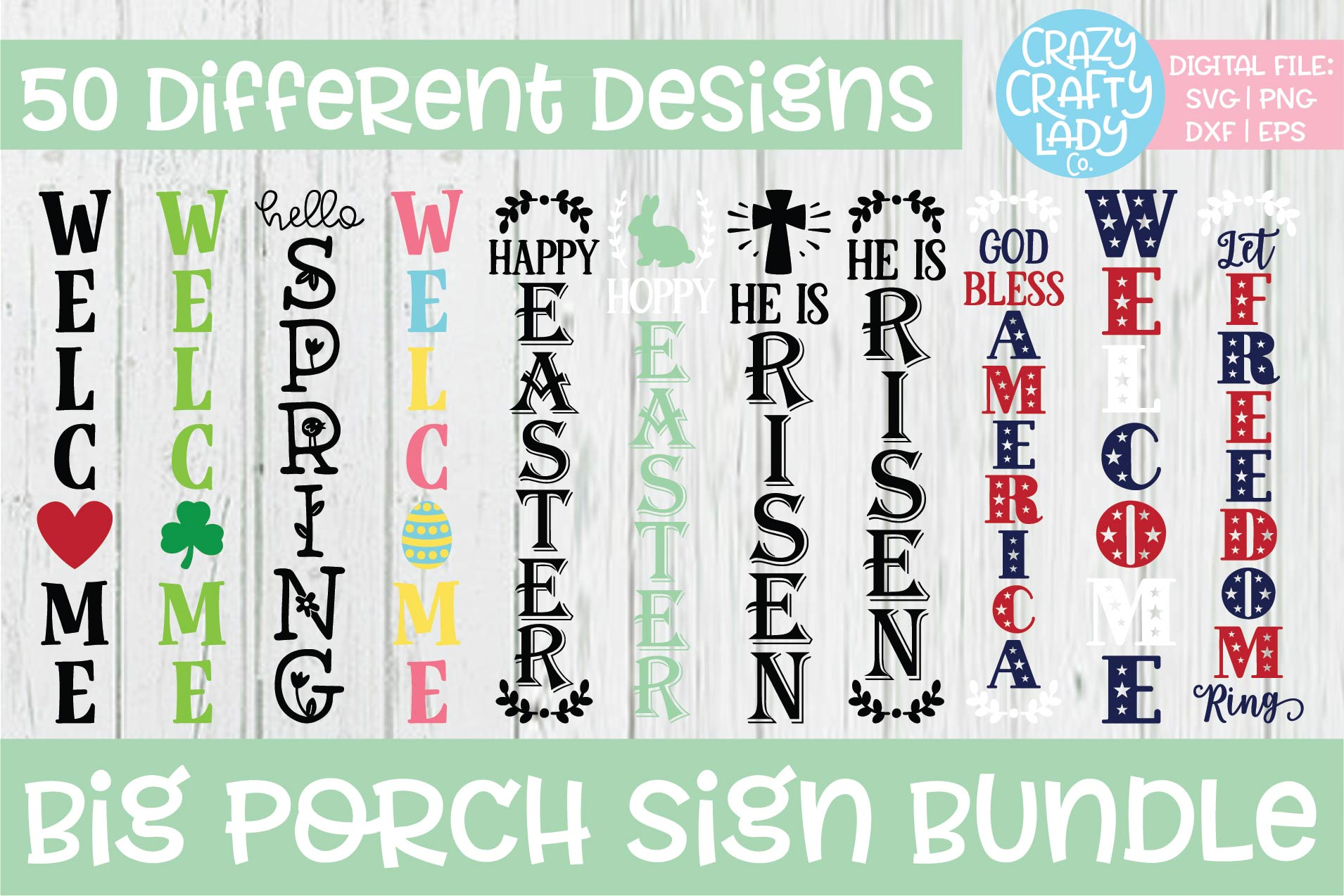 Big Porch Sign SVG DXF EPS PNG Cut File Bundle example image 3