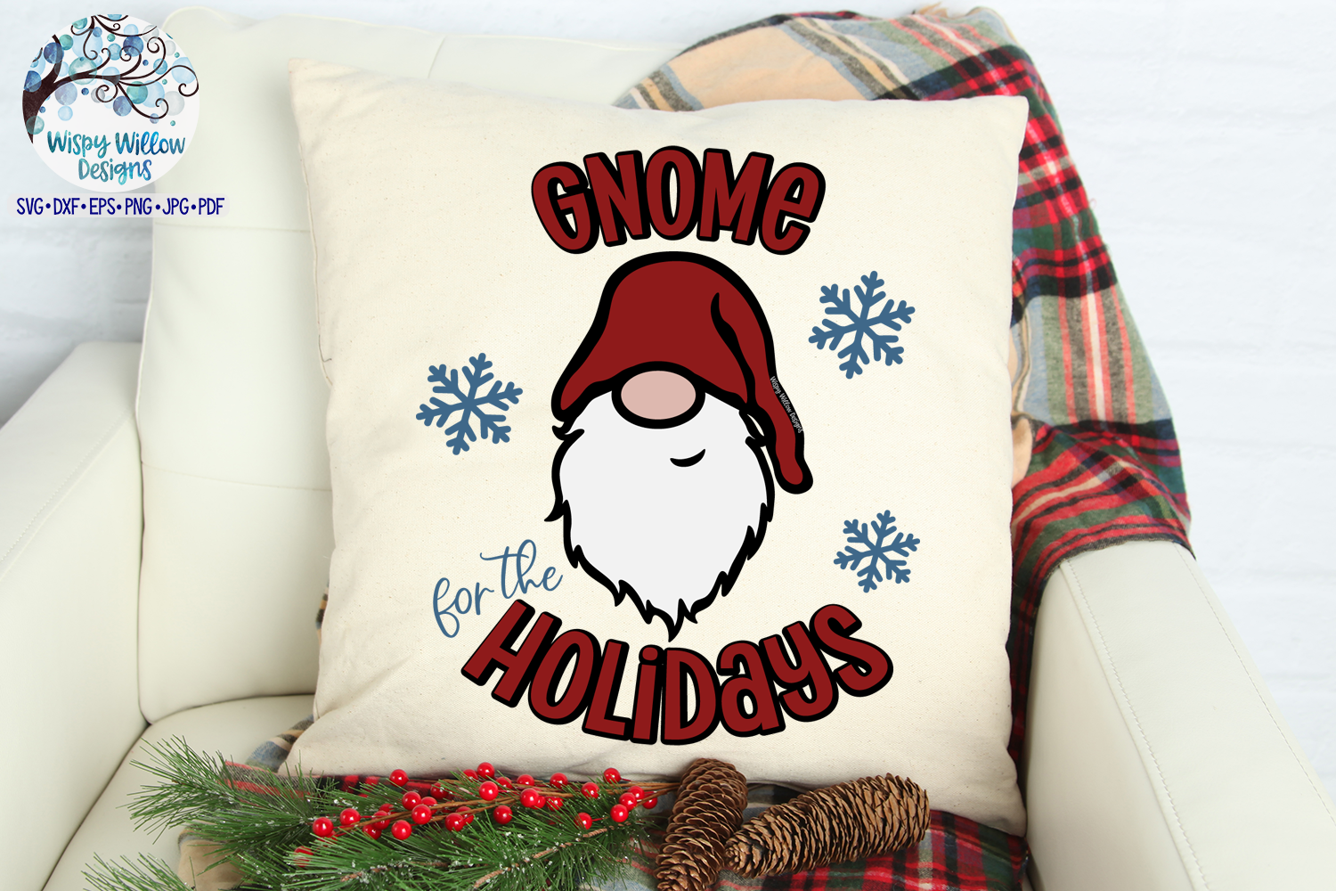 Gnome For The Holidays SVG | Christmas Gnome SVG File example image 2