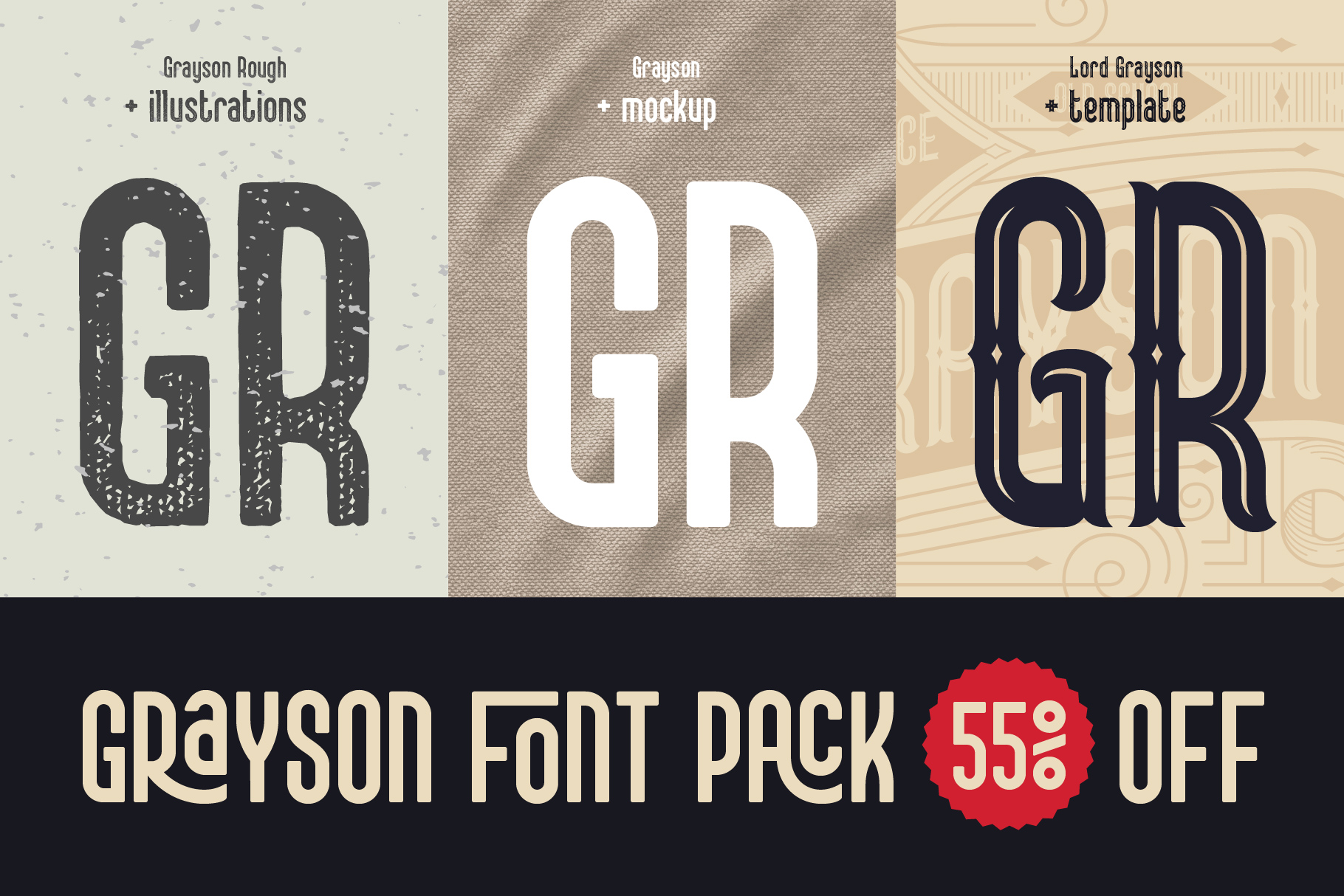 Grayson Font Pack. 55 OFF! example image 1