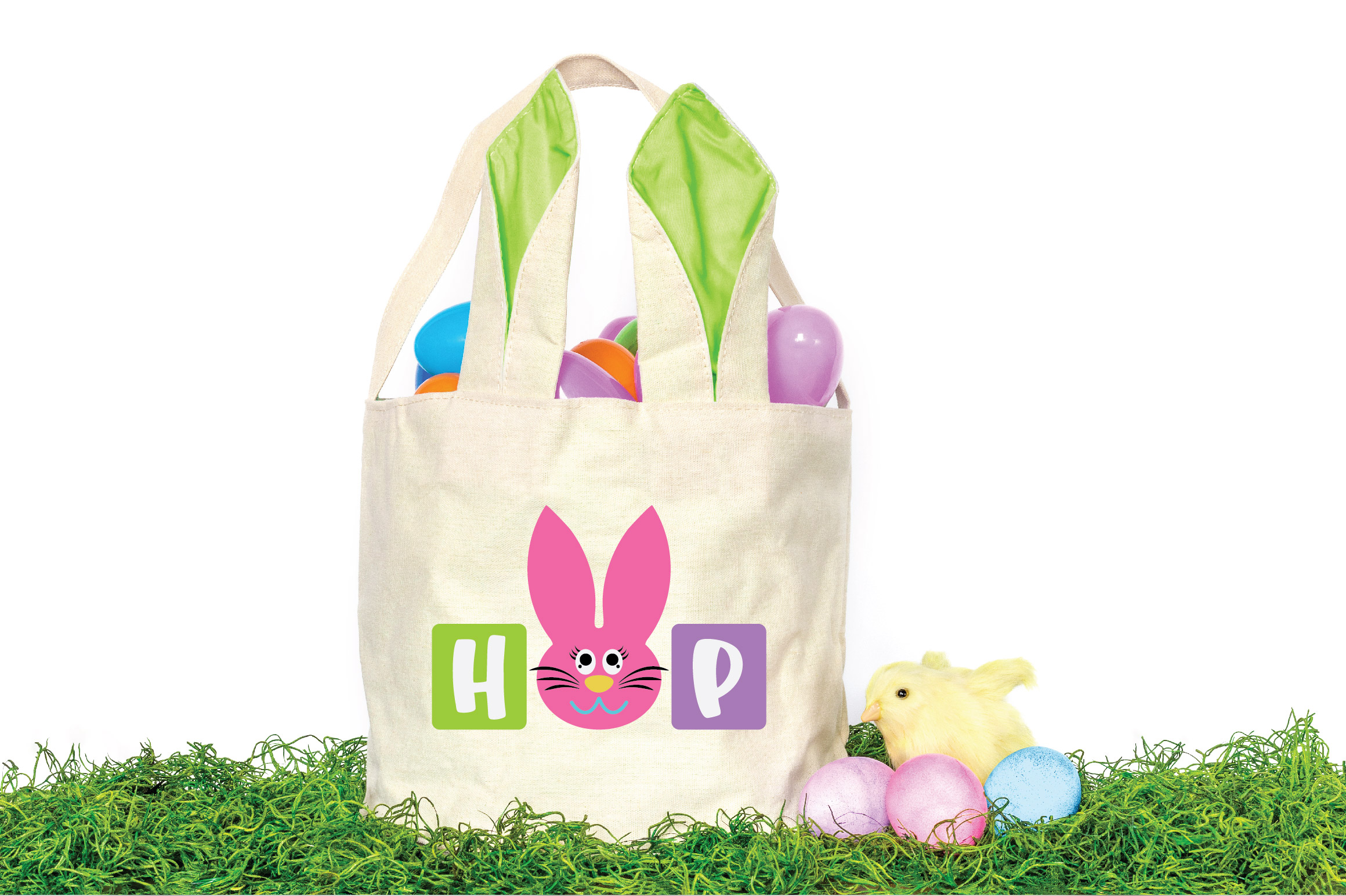 Easter SVG Cut File - Hop SVG DXF EPS PNG AI example image 2