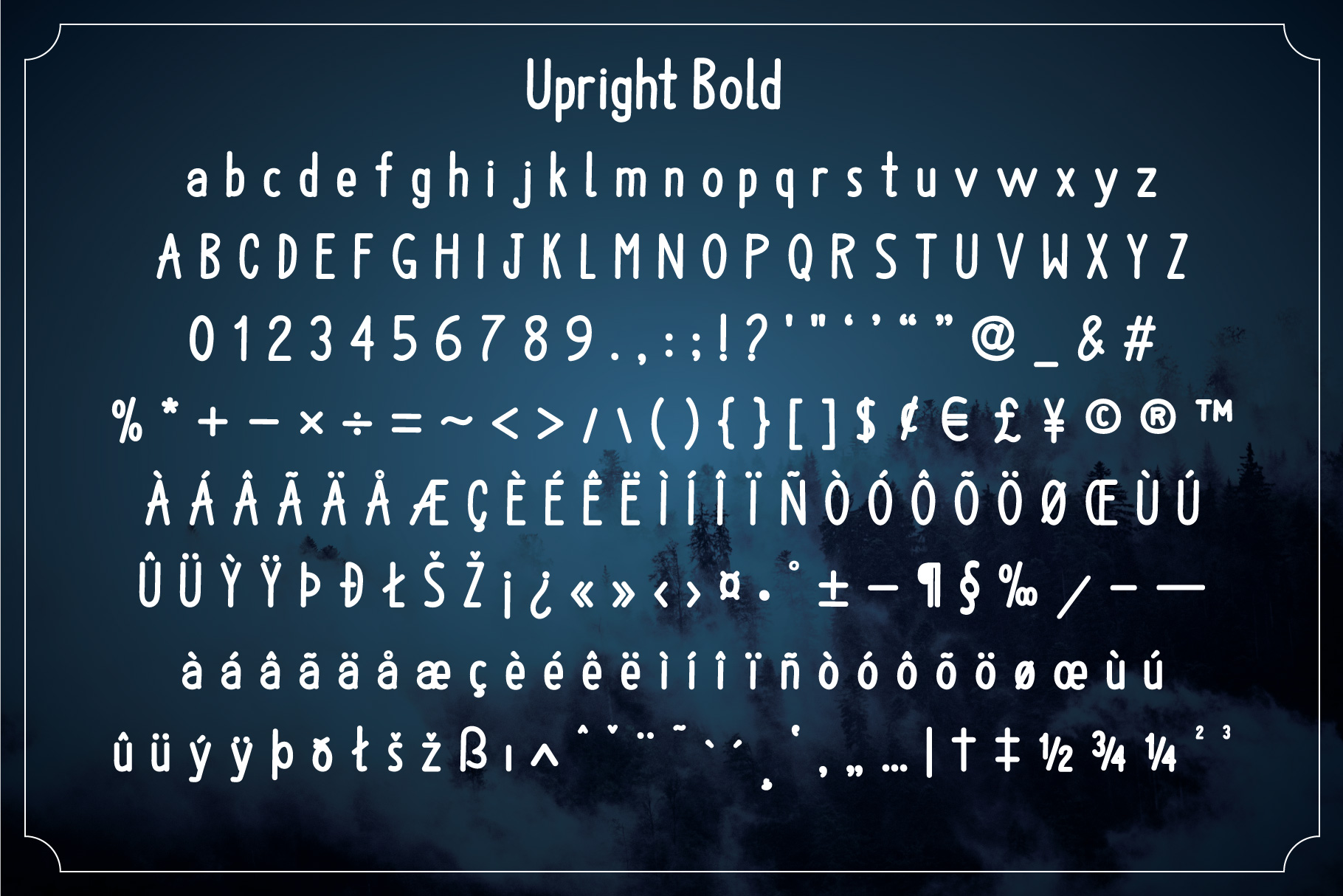 Upright Font Family example image 7