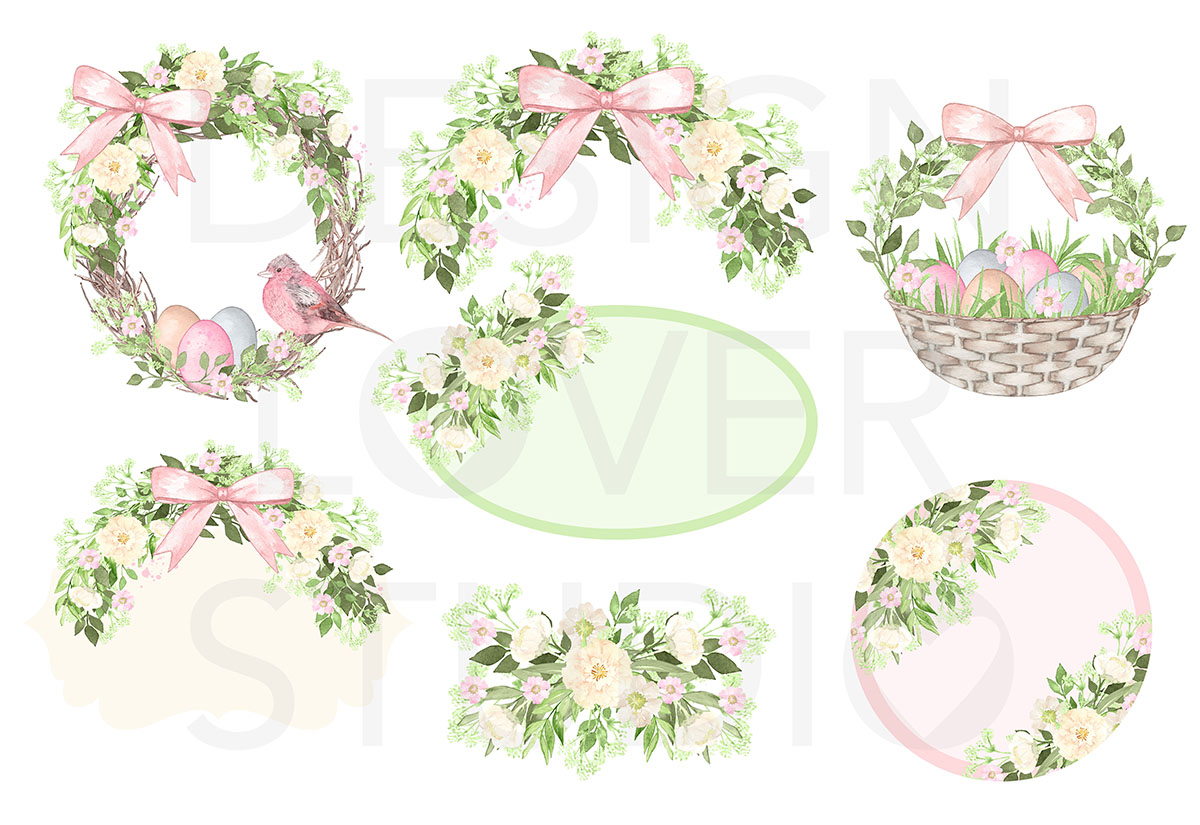 Watercolor Cute Easter design example image 2