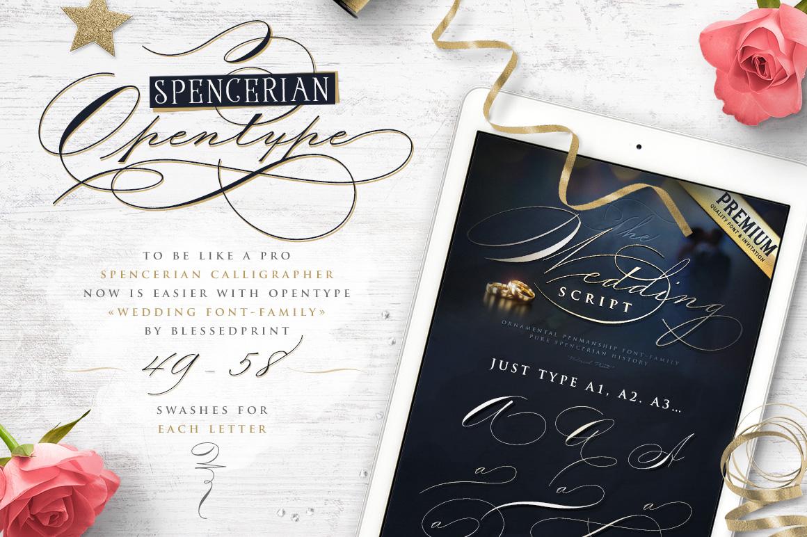 The Wedding Script & Invitation set example image 2