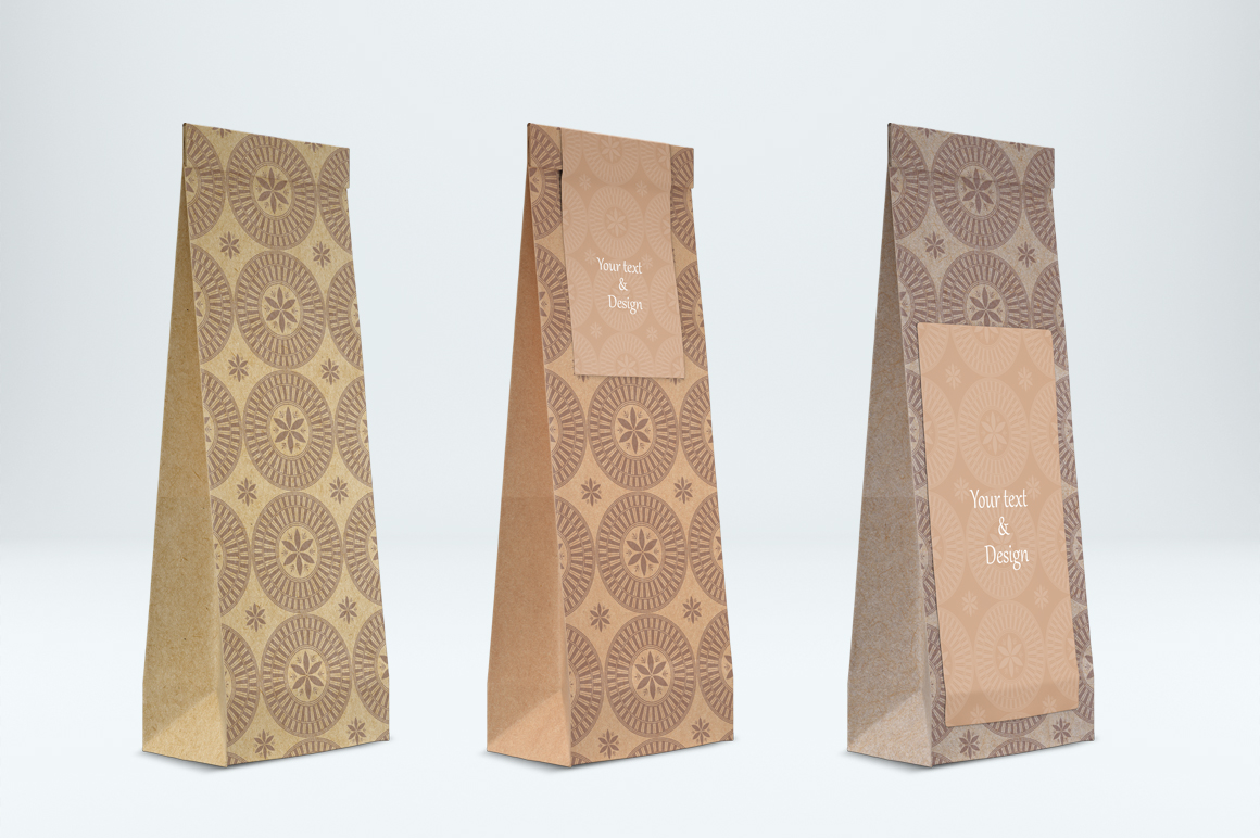 Craft paper pouch mockup. PSD mockup. PSD object mockup. example image 5