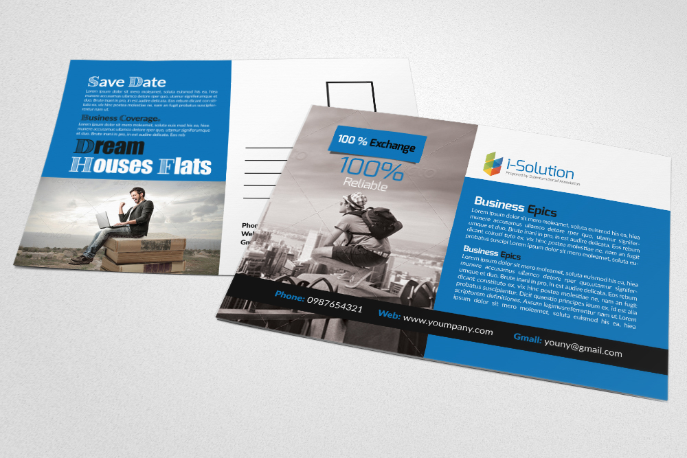 Business Tourist Postcards example image 3