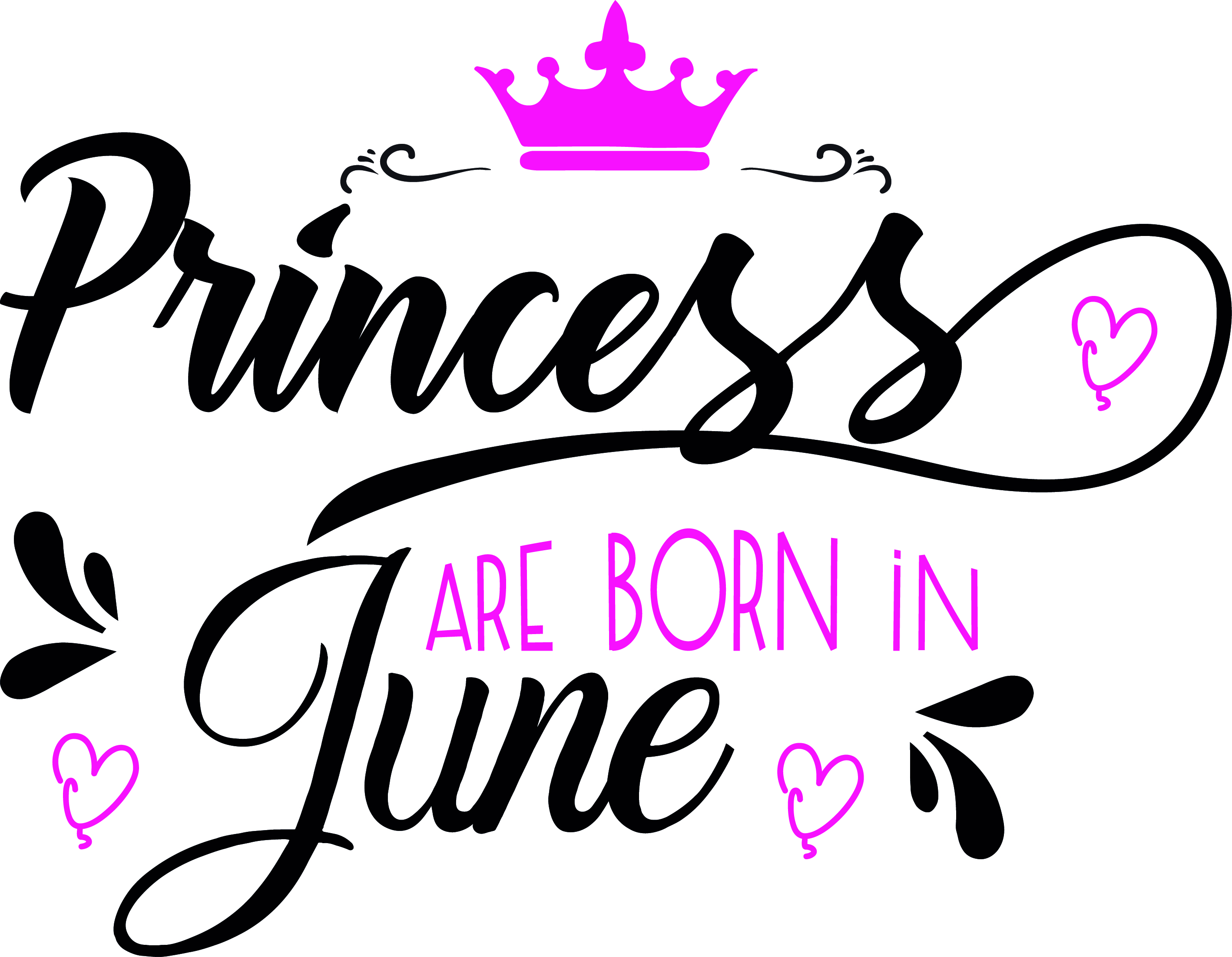 Princess are born in June Svg,Dxf,Png,Jpg,Eps vector file example image 2